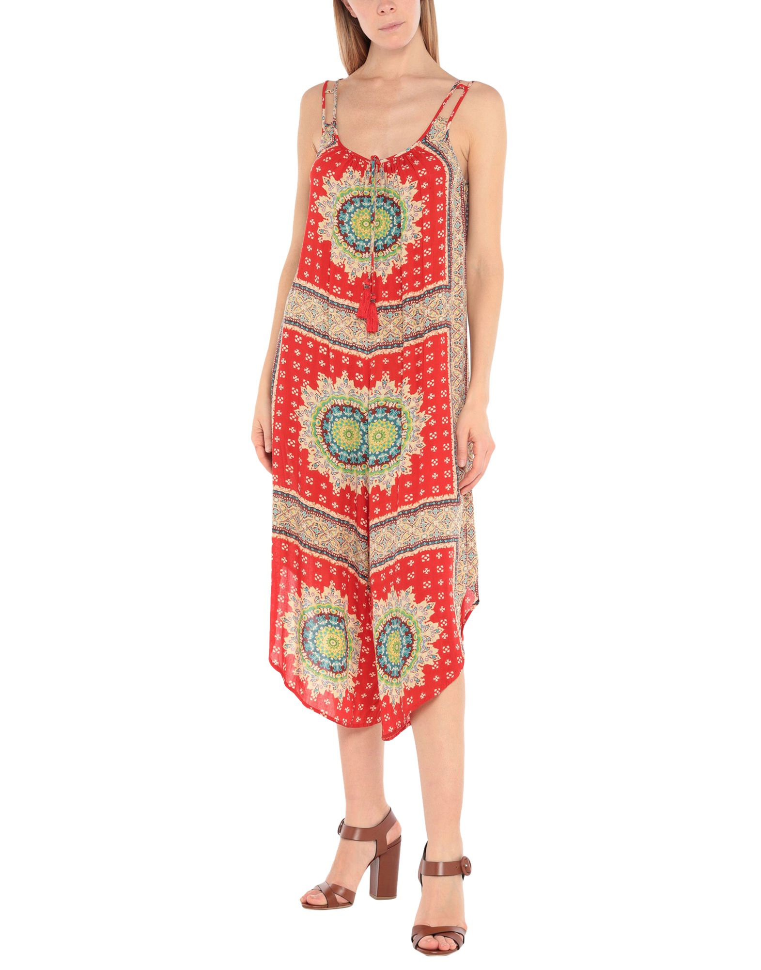 BAND OF GYPSIES Jumpsuits. plain weave, tassels, ethnic design, sleeveless, v-neck, unlined, no pockets. 100% Viscose