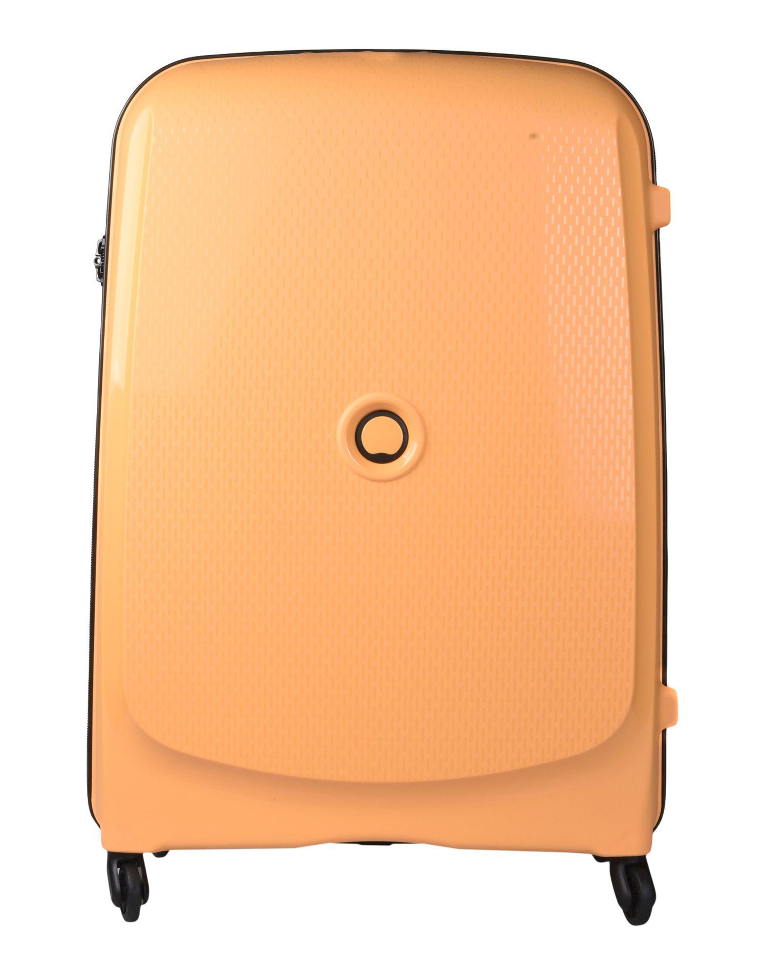 《送料無料》DELSEY Unisex キャスター付きバッグ あんず色 ポリプロピレン