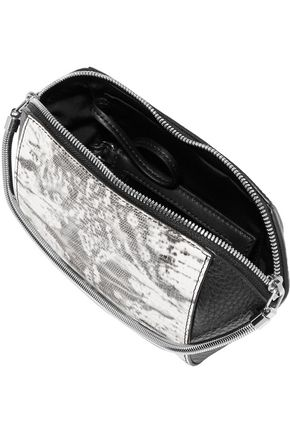 ALEXANDER WANG Chastity lizard-effect and textured-leather cosmetics case
