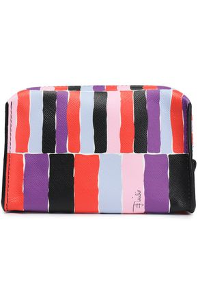EMILIO PUCCI Small printed textured-leather cosmetic case