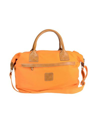 CALABRESE NAPOLI レディース 旅行バッグ オレンジ 革 / 紡績繊維