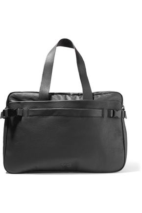 Y-3 Coated canvas and faux leather weekend bag