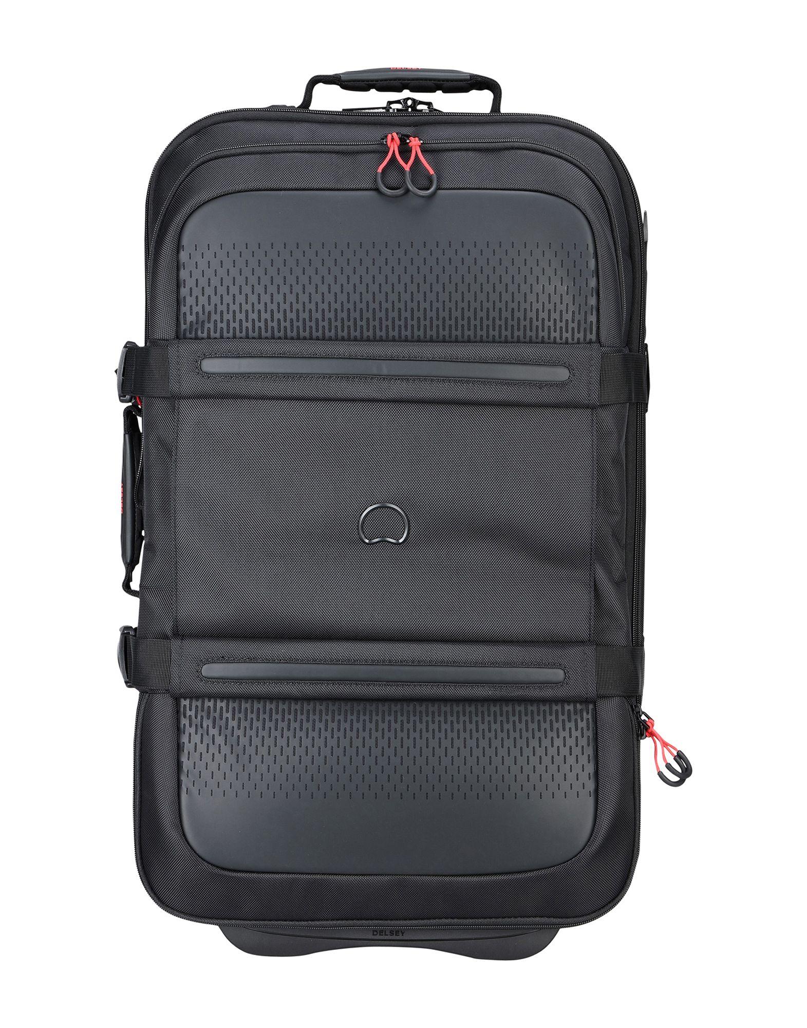 《期間限定セール中》DELSEY Unisex キャスター付きバッグ ブラック ポリエステル MONTSOURIS