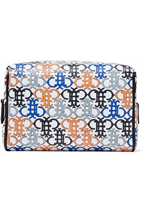 EMILIO PUCCI Printed faux pebbled-leather cosmetics case