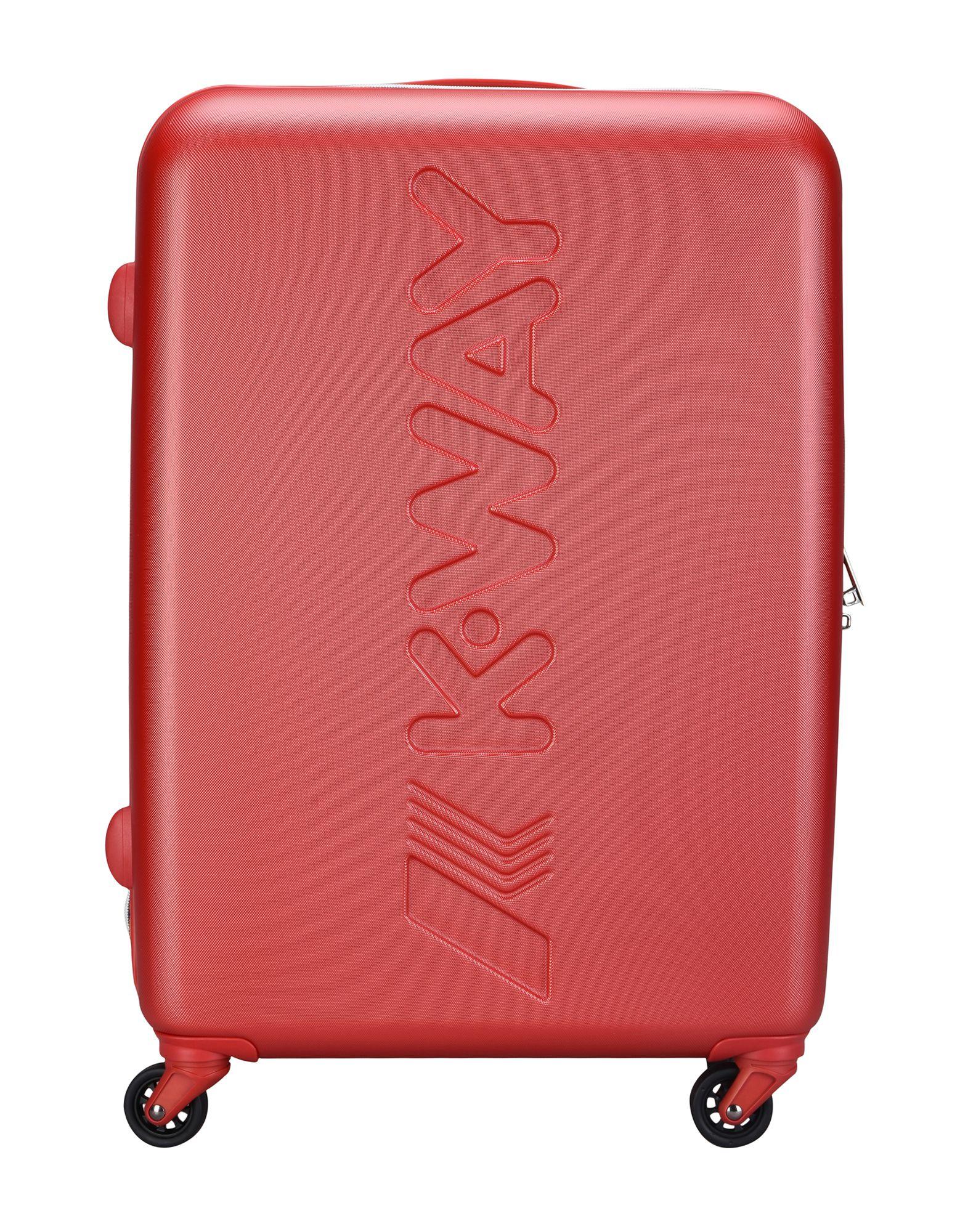ユニセックス K-WAY キャスター付きバッグ レッド