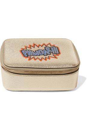 ANYA HINDMARCH Phwoar!!! metallic textured-leather cosmetic case