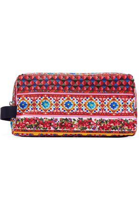 DOLCE & GABBANA Printed canvas pouch
