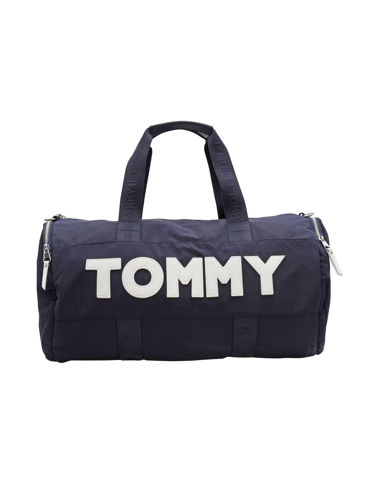 レディース TOMMY HILFIGER TOMMY NYLON DUFFLE 旅行バッグ ダークブルー