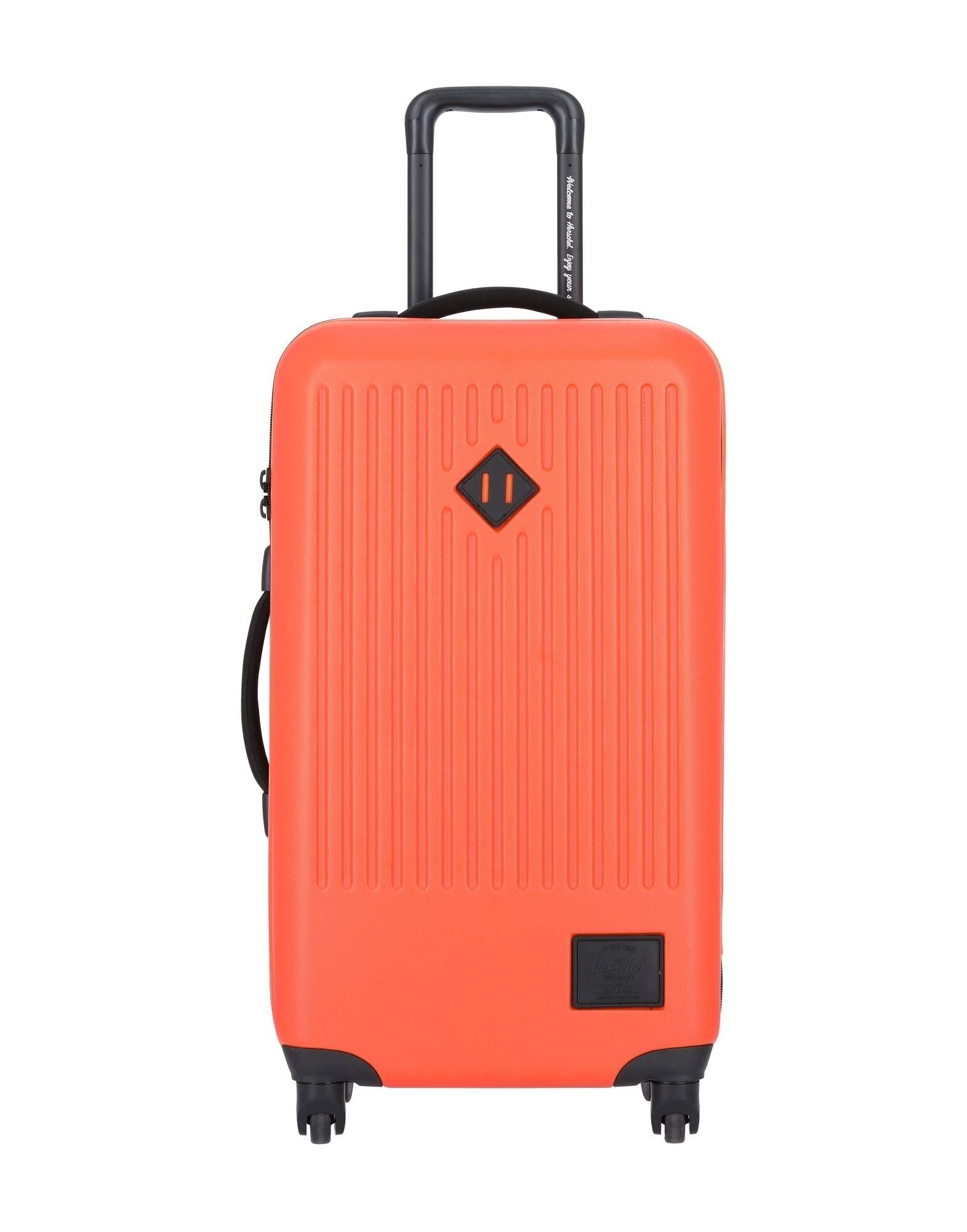 《セール開催中》HERSCHEL SUPPLY CO. Unisex キャスター付きバッグ オレンジ ABS樹脂 / ポリカーボネート / ポリエステル