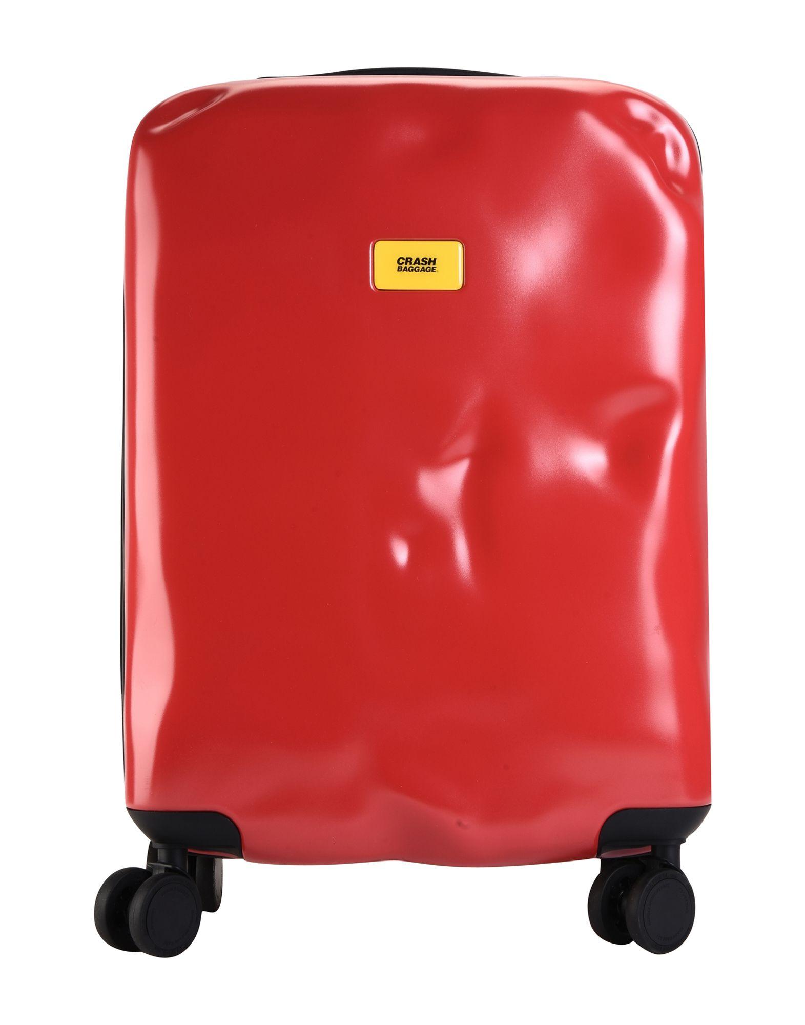 《期間限定セール中》CRASH BAGGAGE Unisex キャスター付きバッグ レッド ポリカーボネート ICON Cabin 4w.