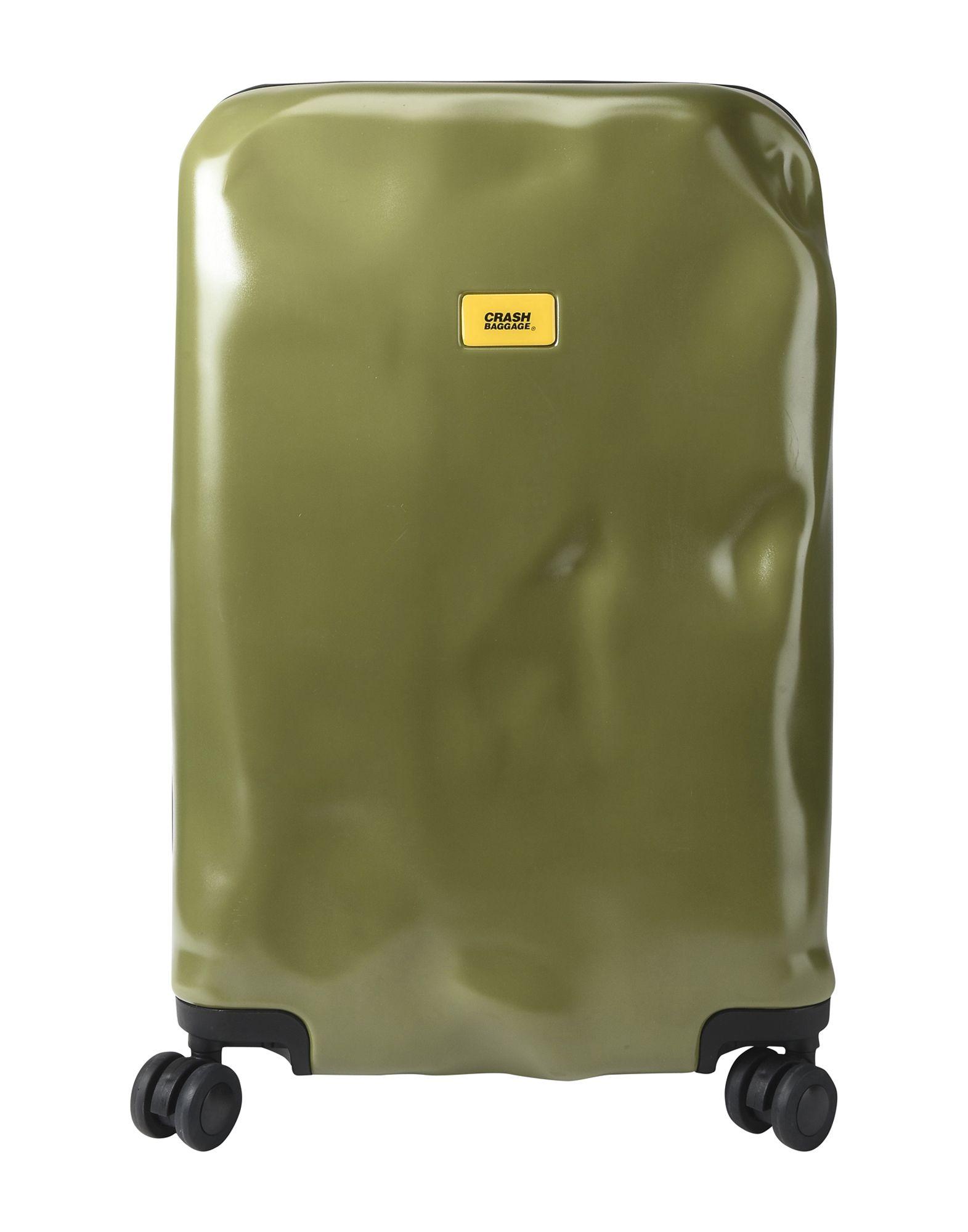 《期間限定セール中》CRASH BAGGAGE Unisex キャスター付きバッグ ミリタリーグリーン ポリカーボネート PIONEER Medium 4w.