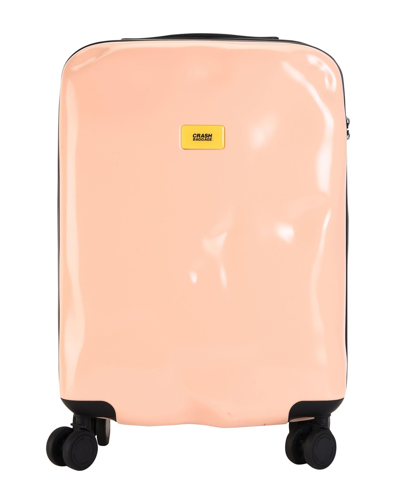 《期間限定セール中》CRASH BAGGAGE Unisex キャスター付きバッグ サーモンピンク ポリカーボネート ICON Cabin 4w.