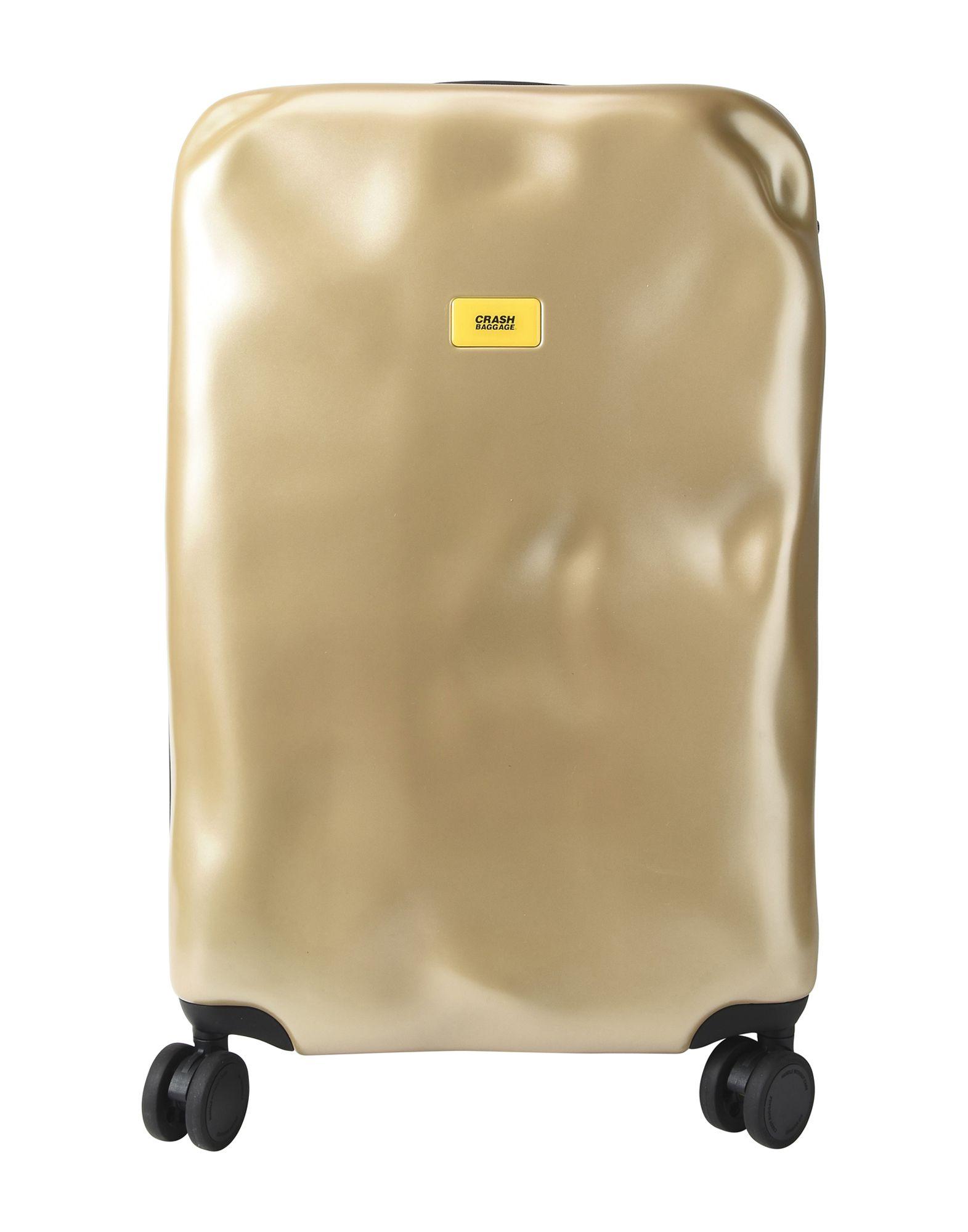 《送料無料》CRASH BAGGAGE Unisex キャスター付きバッグ ゴールド ポリカーボネート ICON Medium 4w.