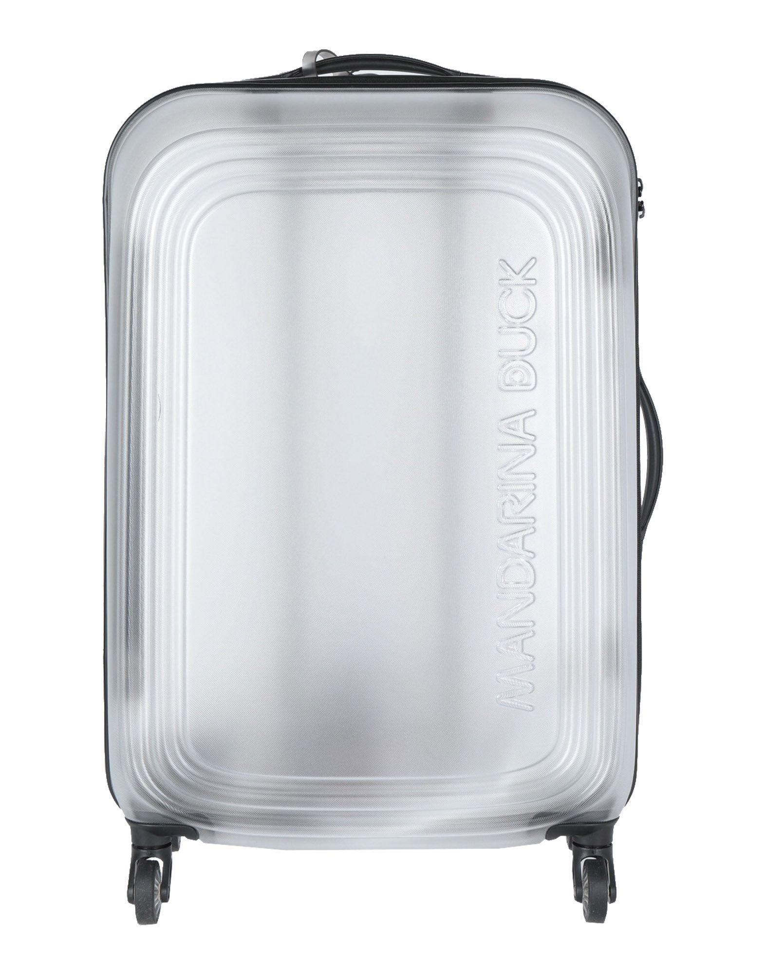 《期間限定セール中》MANDARINA DUCK Unisex キャスター付きバッグ 鉛色 アクリル / ポリエステル / ナイロン / シリコン