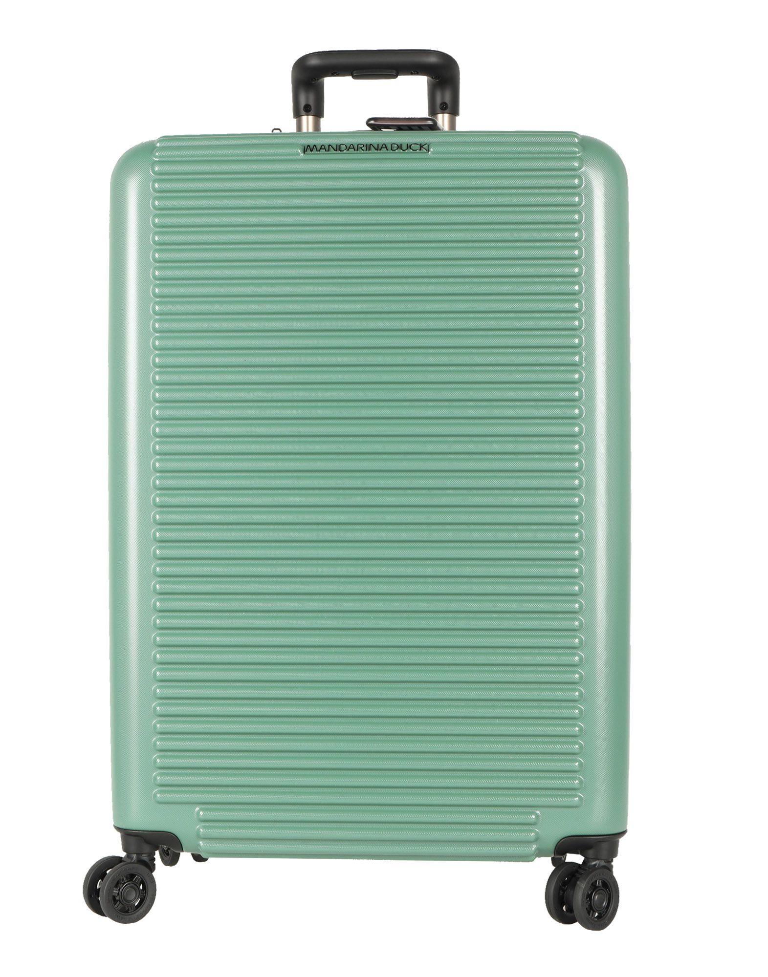 《期間限定セール中》MANDARINA DUCK Unisex キャスター付きバッグ グリーン ポリアクリル