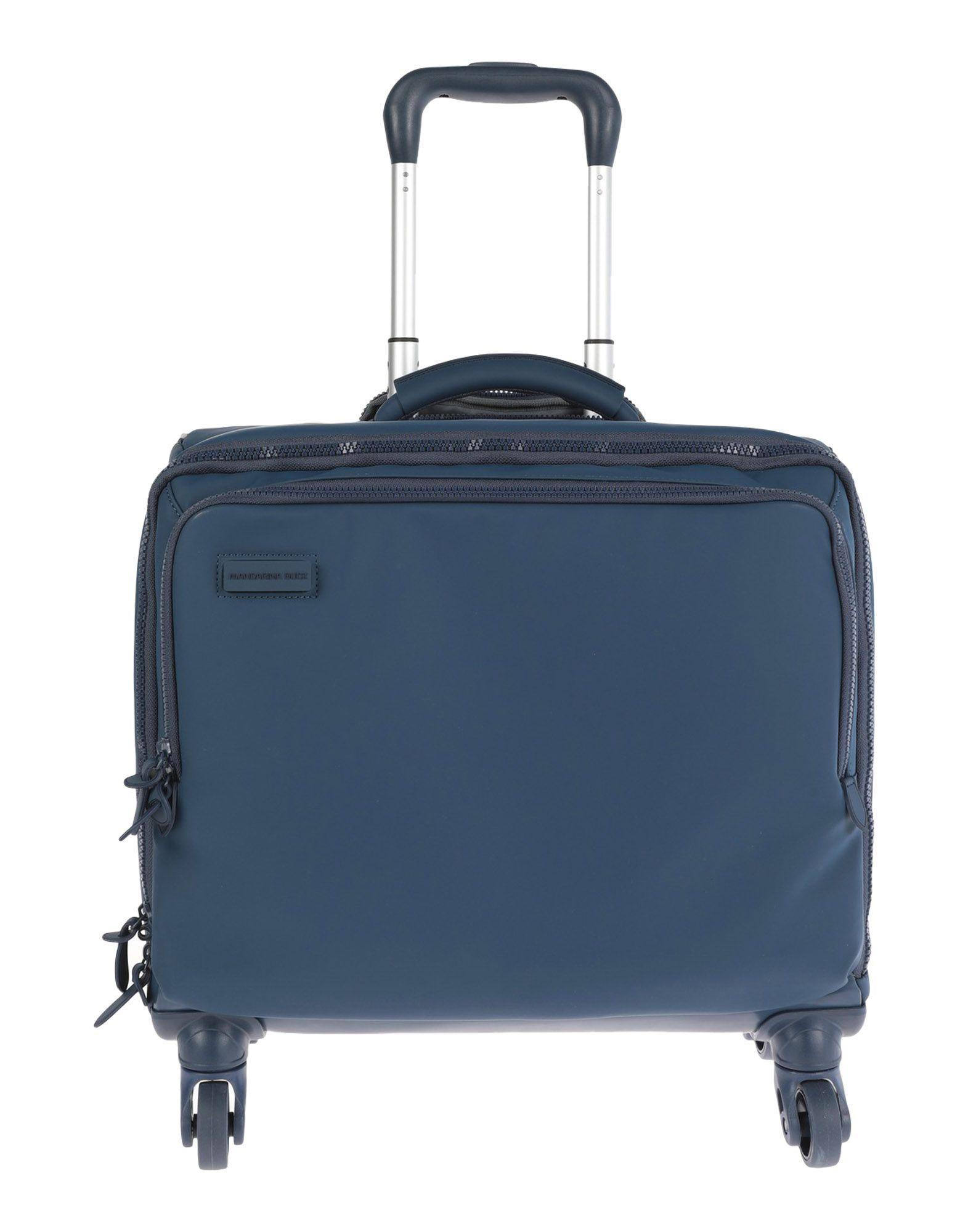 《期間限定セール中》MANDARINA DUCK レディース キャスター付きバッグ ブルーグレー 紡績繊維