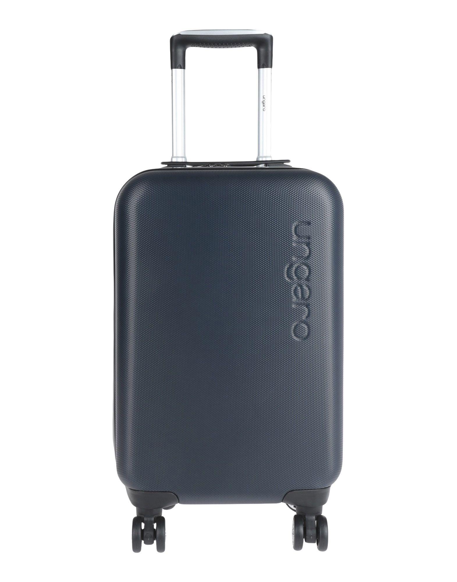 《期間限定セール中》UNGARO メンズ キャスター付きバッグ ダークブルー ABS樹脂 100%