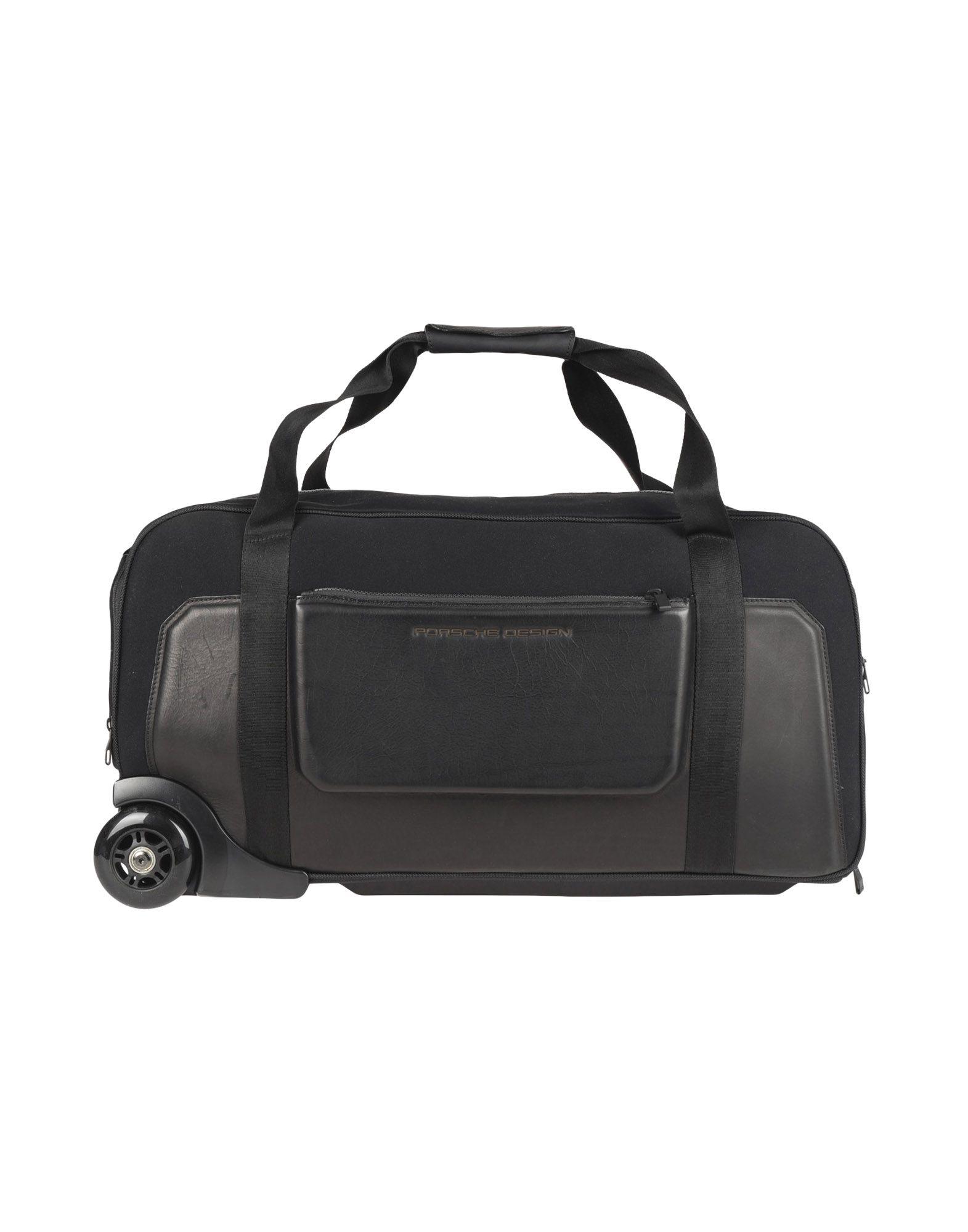 《期間限定セール中》PORSCHE DESIGN SPORT by ADIDAS メンズ スーツケース ブラック 紡績繊維 / 革