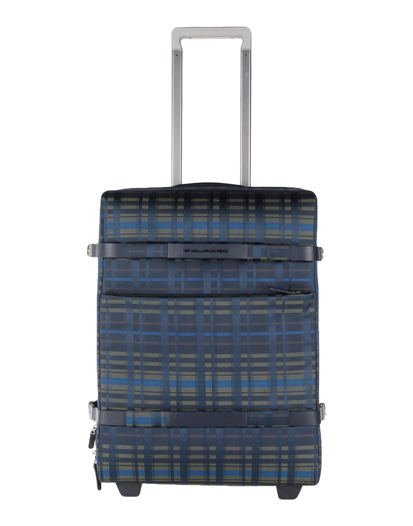 《期間限定セール中》PIQUADRO Unisex キャスター付きバッグ ダークブルー ポリ塩化ビニル / ナイロン