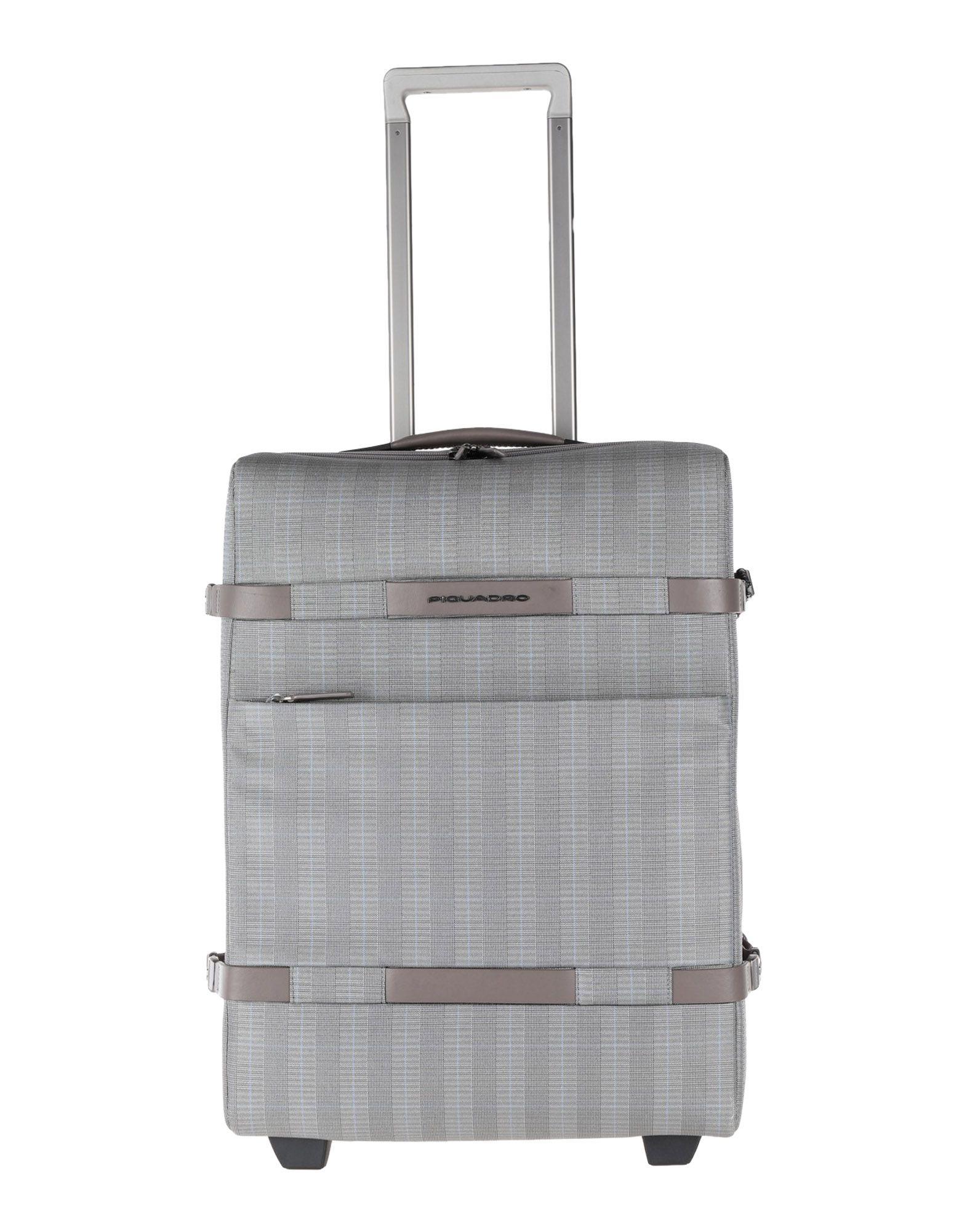 《期間限定セール中》PIQUADRO Unisex キャスター付きバッグ グレー ポリ塩化ビニル / ナイロン / 金属 / ABS樹脂 / ポリウレタン