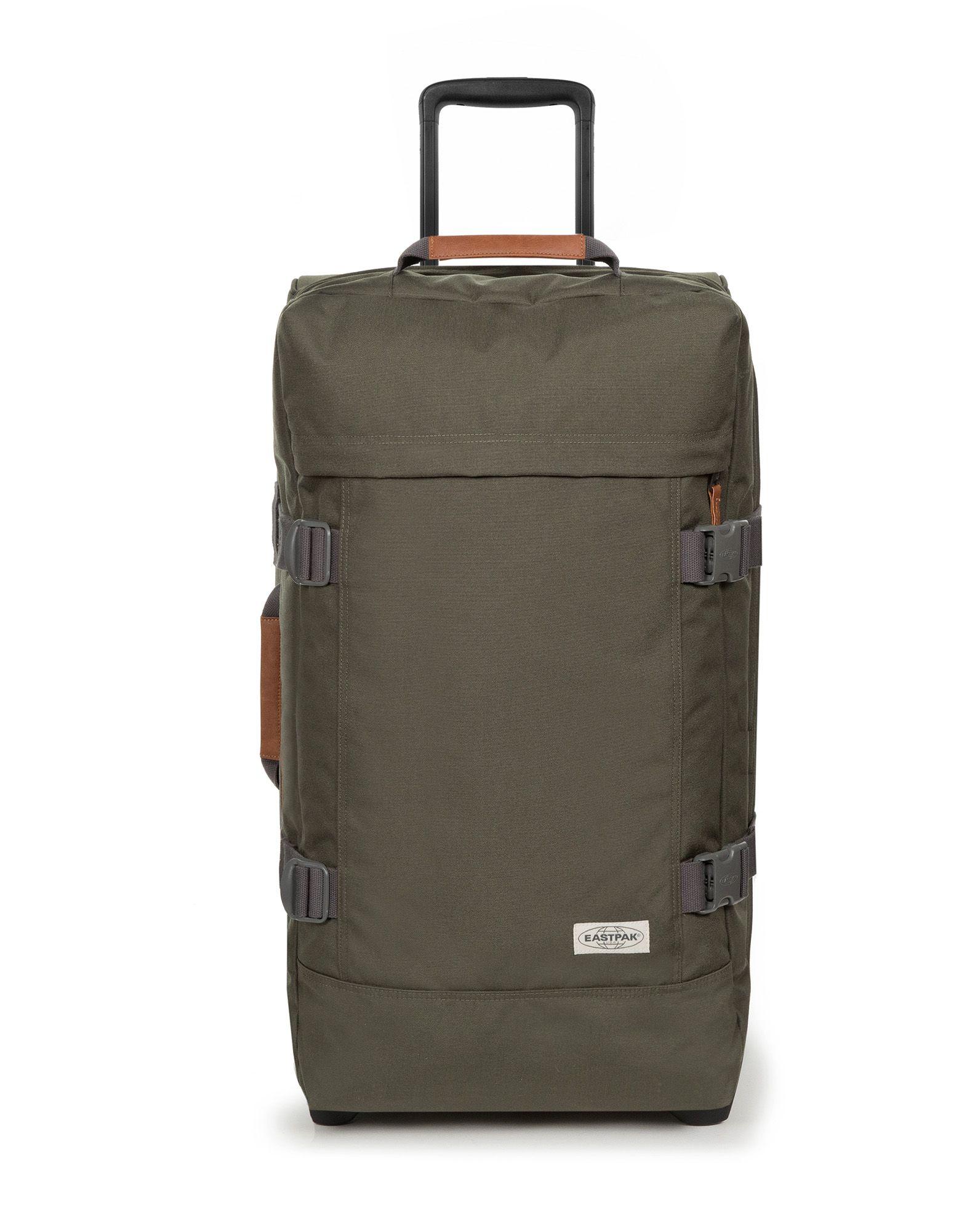 《期間限定セール中》EASTPAK Unisex キャスター付きバッグ ミリタリーグリーン ポリエステル 100% TRANVERZ M