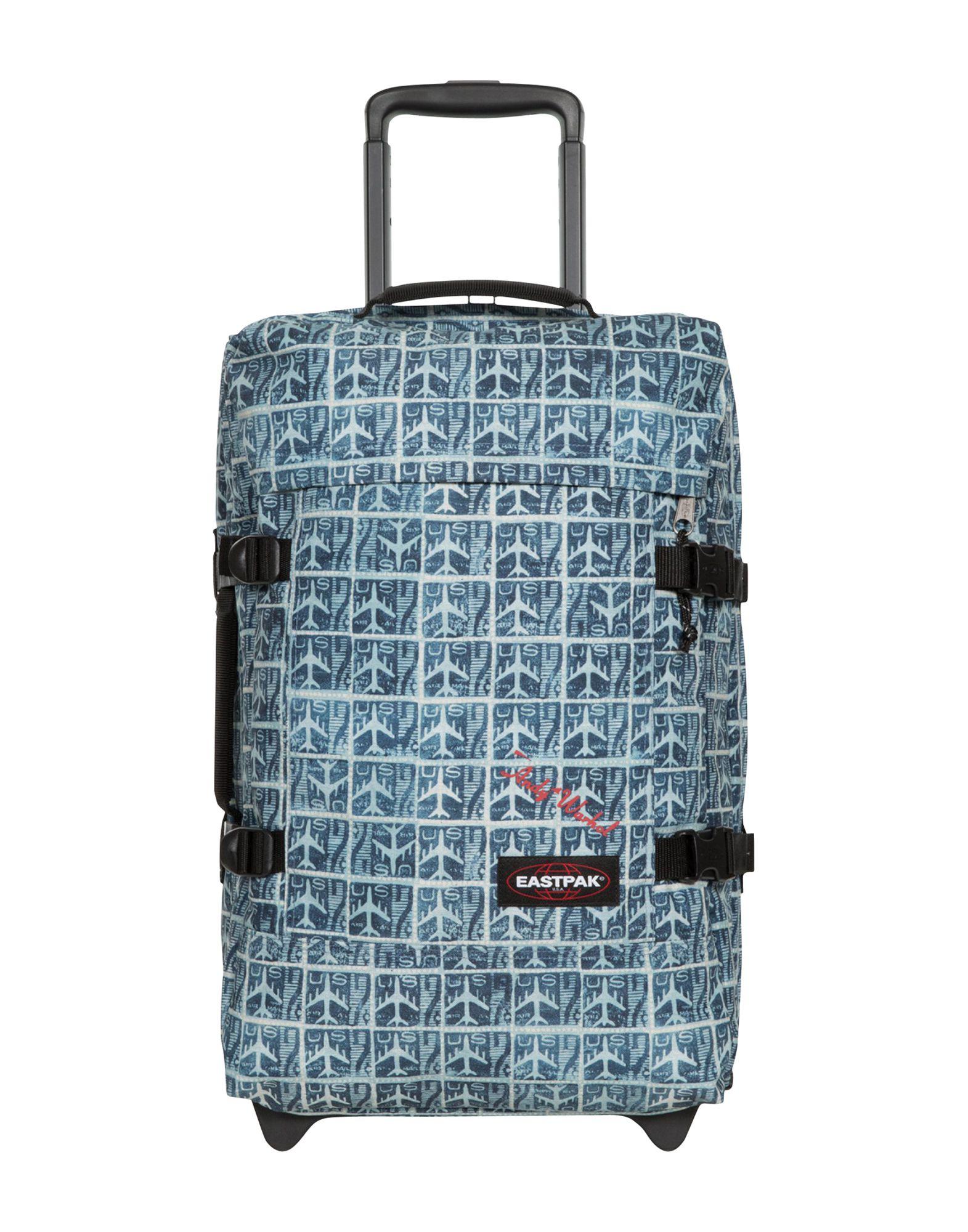 《セール開催中》EASTPAK & ANDY WARHOL Unisex キャスター付きバッグ スカイブルー ポリエステル 100% TRANVERZ S