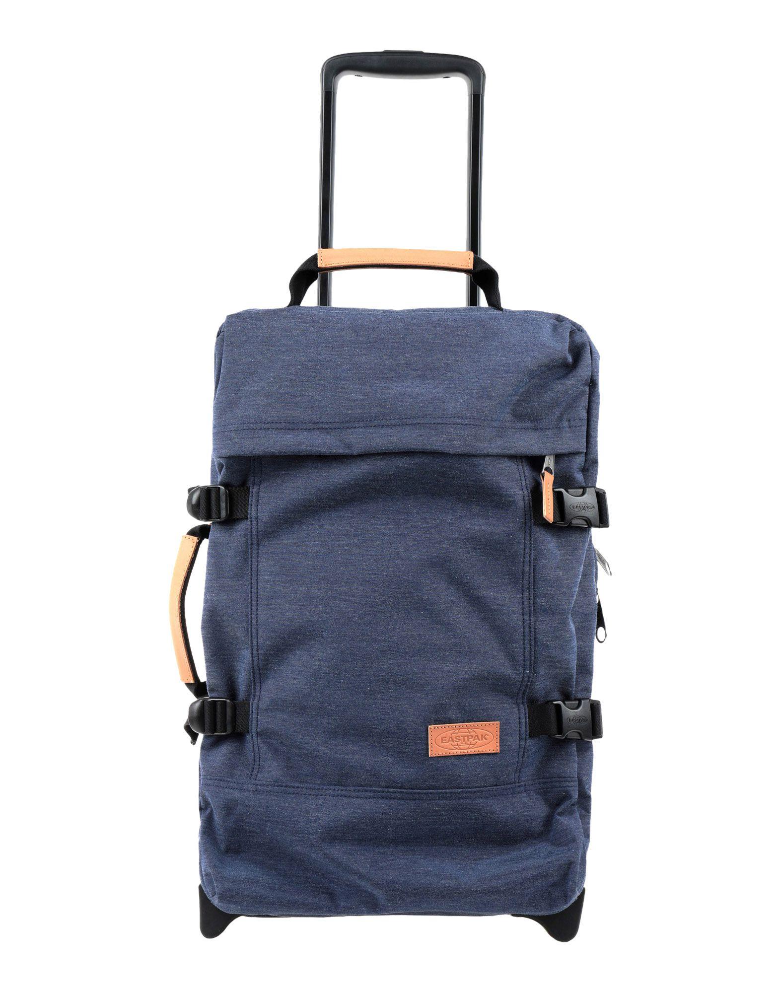《期間限定セール中》EASTPAK Unisex キャスター付きバッグ ブルー ポリエステル / コットン / 革