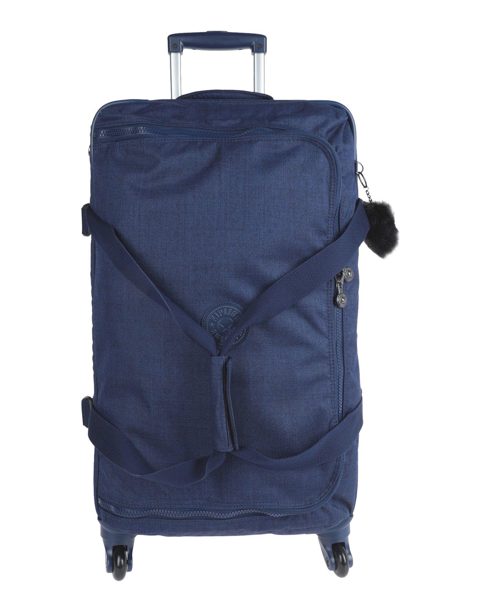 《期間限定セール中》KIPLING レディース キャスター付きバッグ ダークブルー 紡績繊維