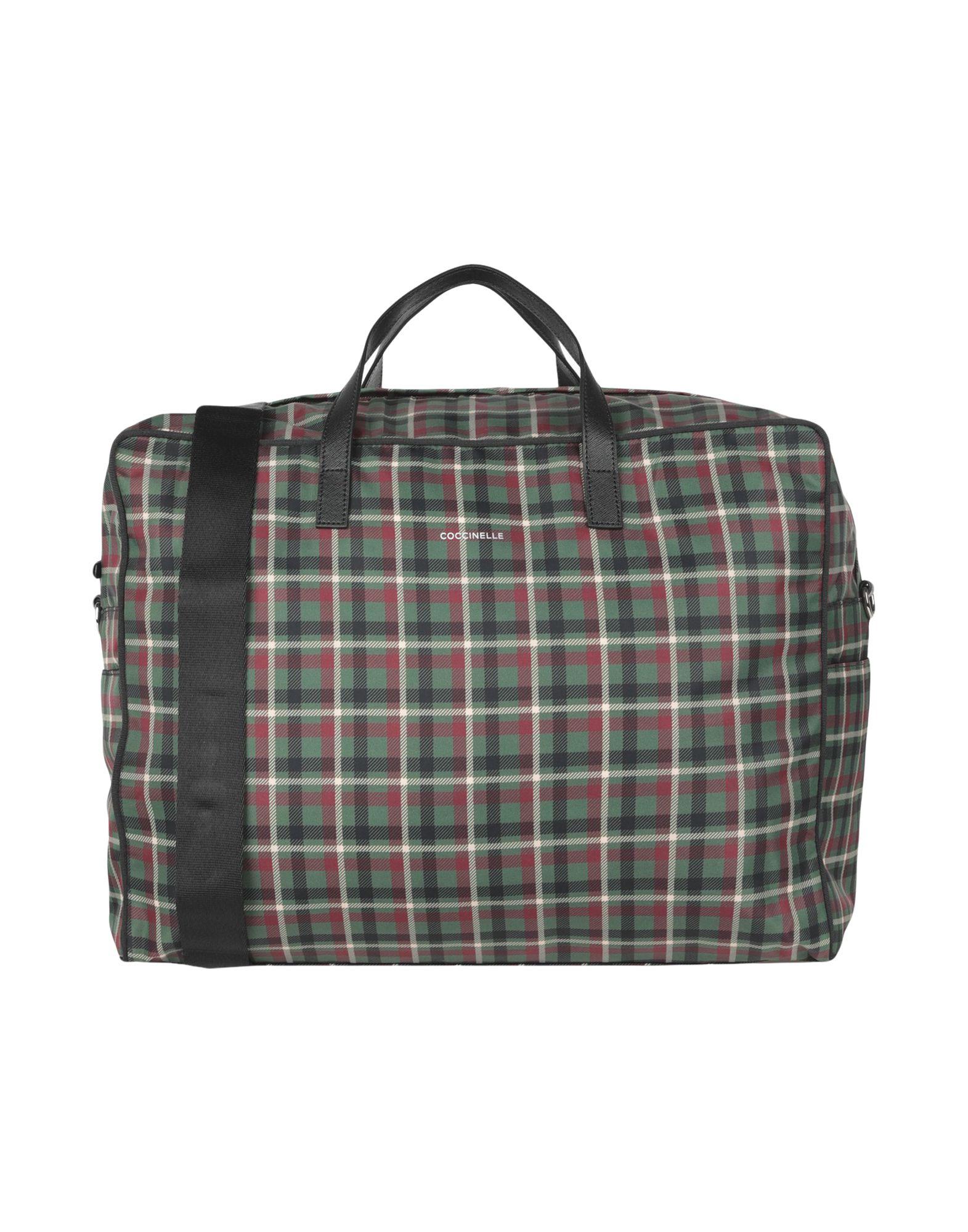 《セール開催中》COCCINELLE レディース 旅行バッグ ミリタリーグリーン ナイロン / 革
