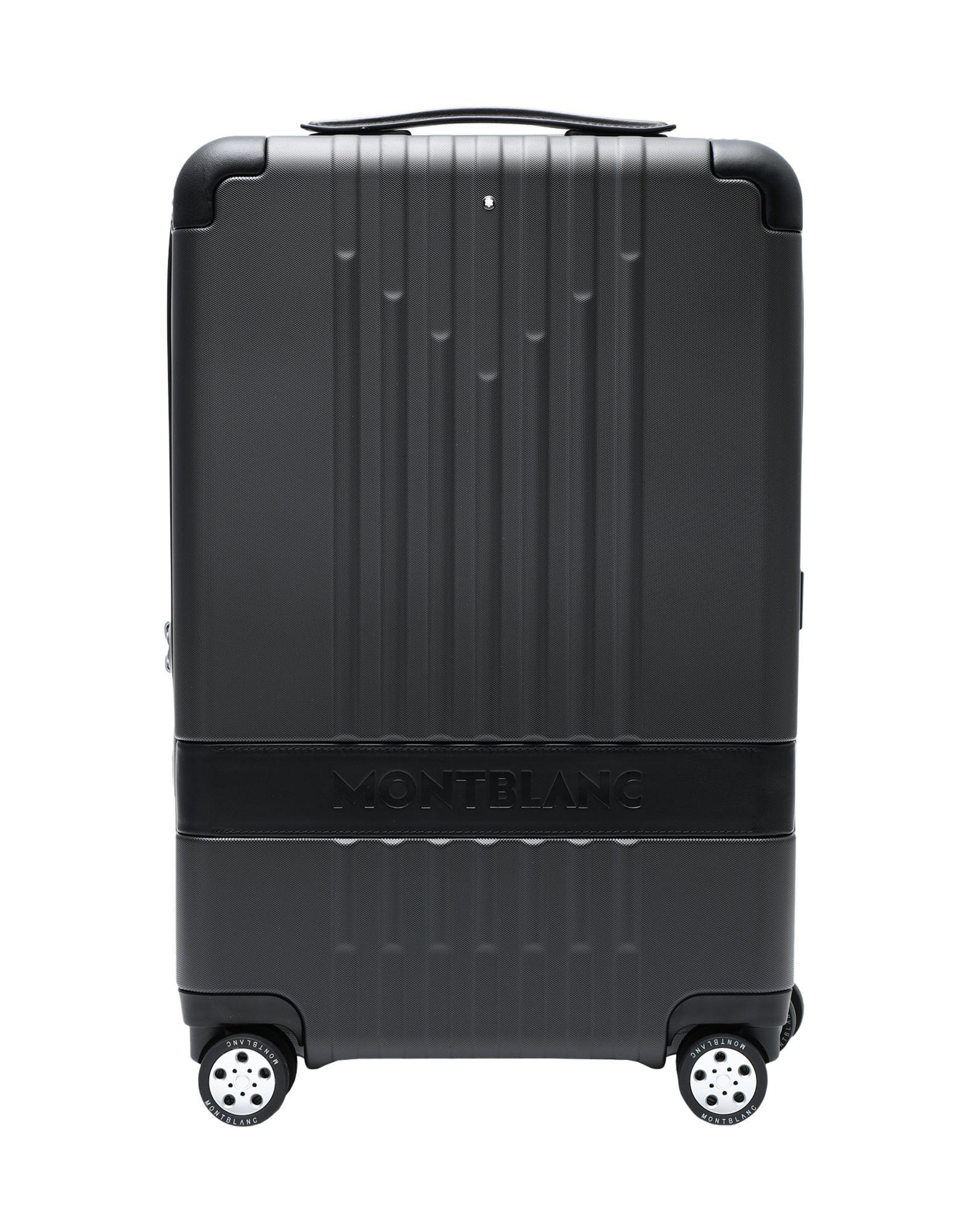 《セール開催中》MONTBLANC Unisex キャスター付きバッグ ブラック ポリカーボネート 100% / 柔らかめの牛革 #MY4810 CABIN COMPACT TROLLEY