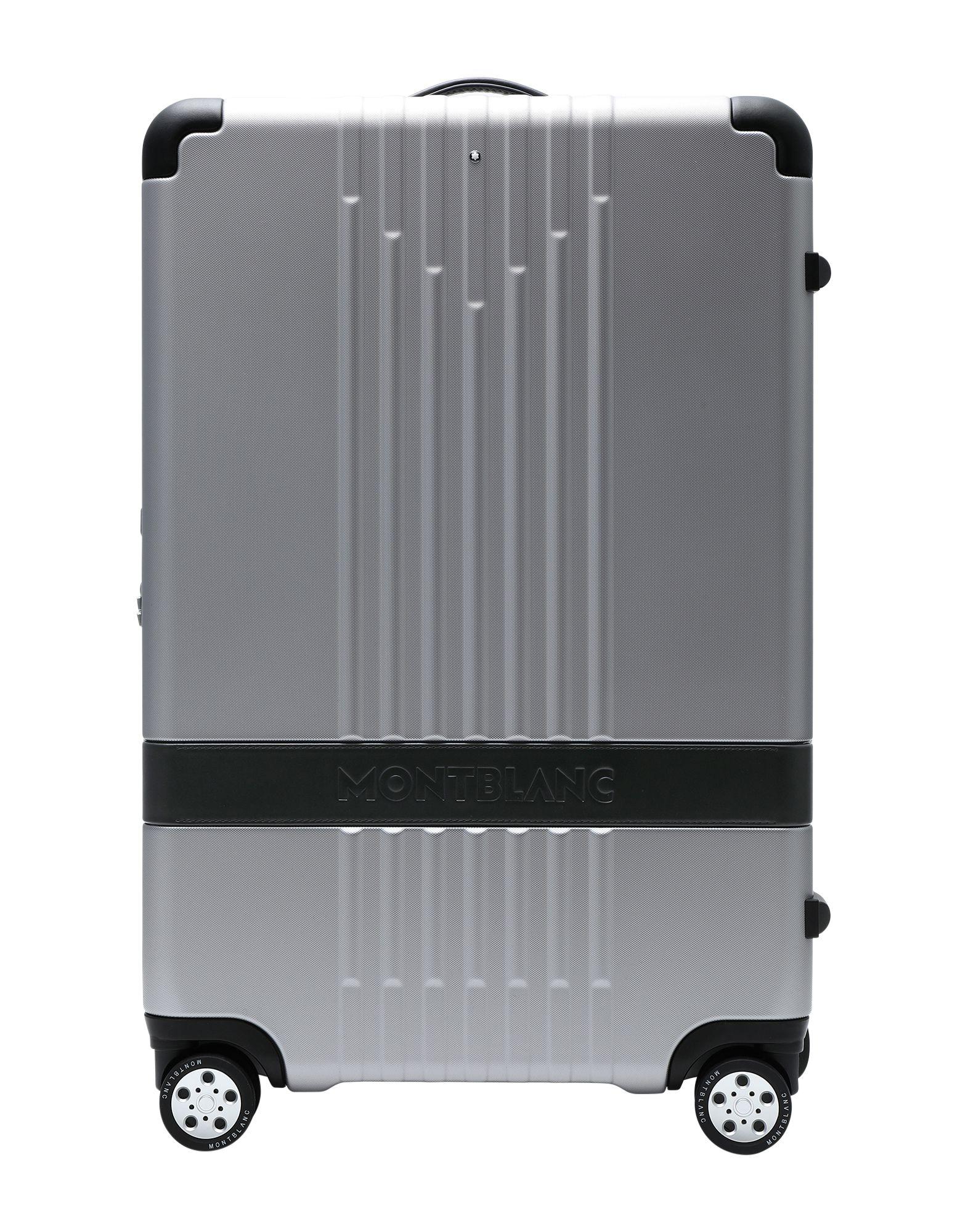 《セール開催中》MONTBLANC Unisex キャスター付きバッグ シルバー ポリカーボネート / 革 #MY4810 MEDIUM TROLLEY