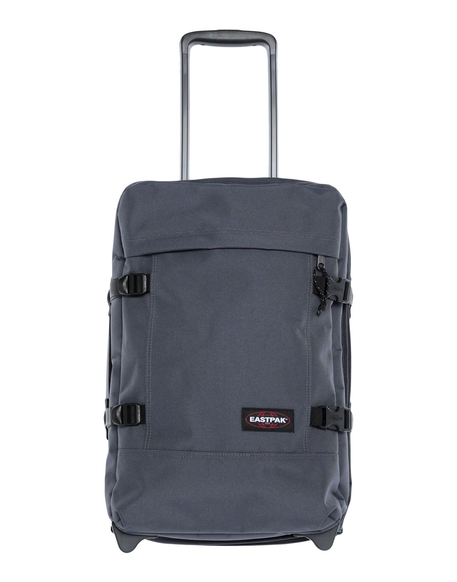 《セール開催中》EASTPAK Unisex キャスター付きバッグ 鉛色 ポリエステル 100% TRANVERZ S QUIET KHAKI