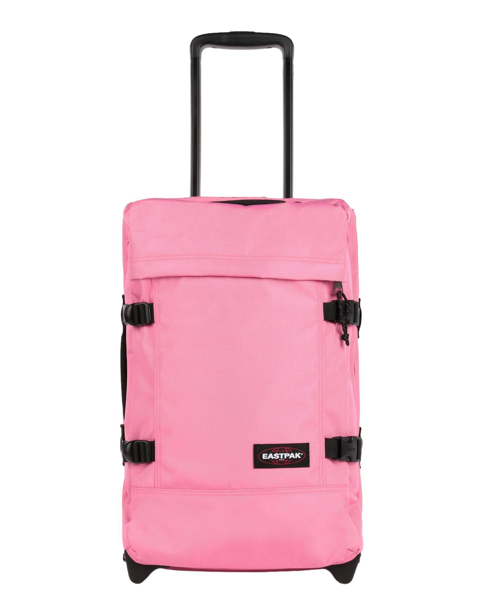 《セール開催中》EASTPAK Unisex キャスター付きバッグ ピンク ポリエステル 100% TRANVERZ S QUIET KHAKI