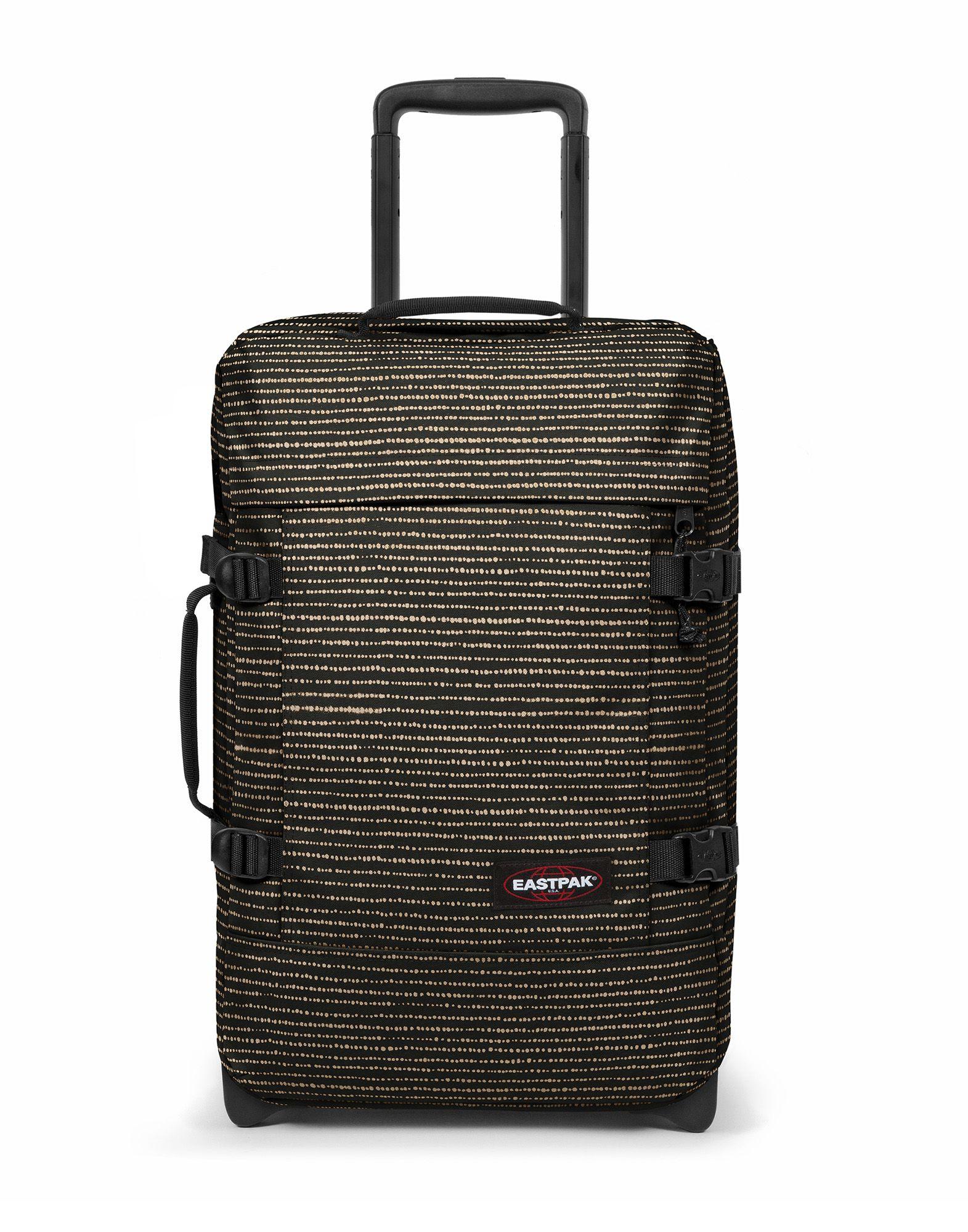 《セール開催中》EASTPAK Unisex キャスター付きバッグ ブラック ポリエステル 100% TRANVERZ S