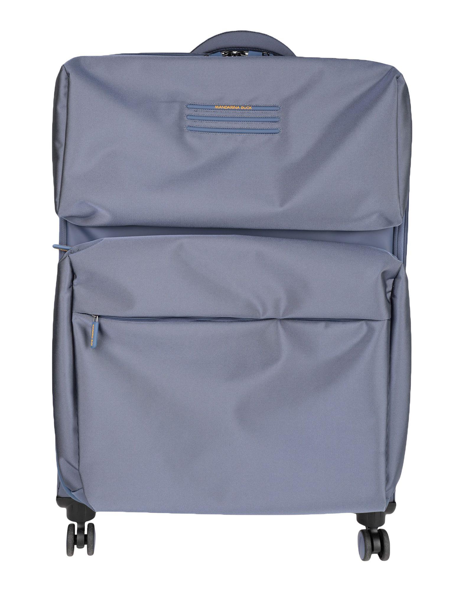《セール開催中》MANDARINA DUCK Unisex キャスター付きバッグ ブルーグレー ナイロン 70% / ポリエステル 30%