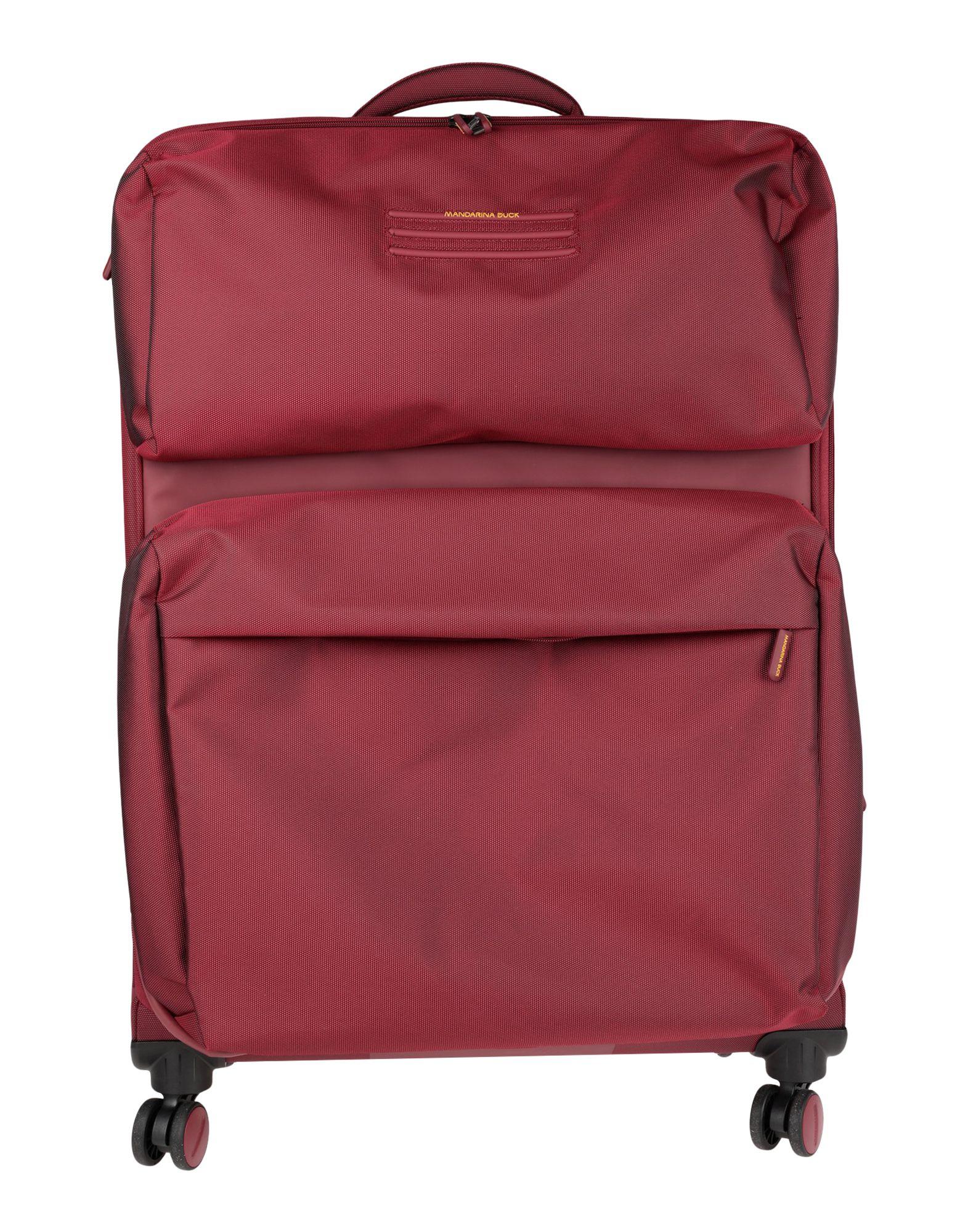 《セール開催中》MANDARINA DUCK Unisex キャスター付きバッグ ボルドー ナイロン 70% / ポリエステル 30%
