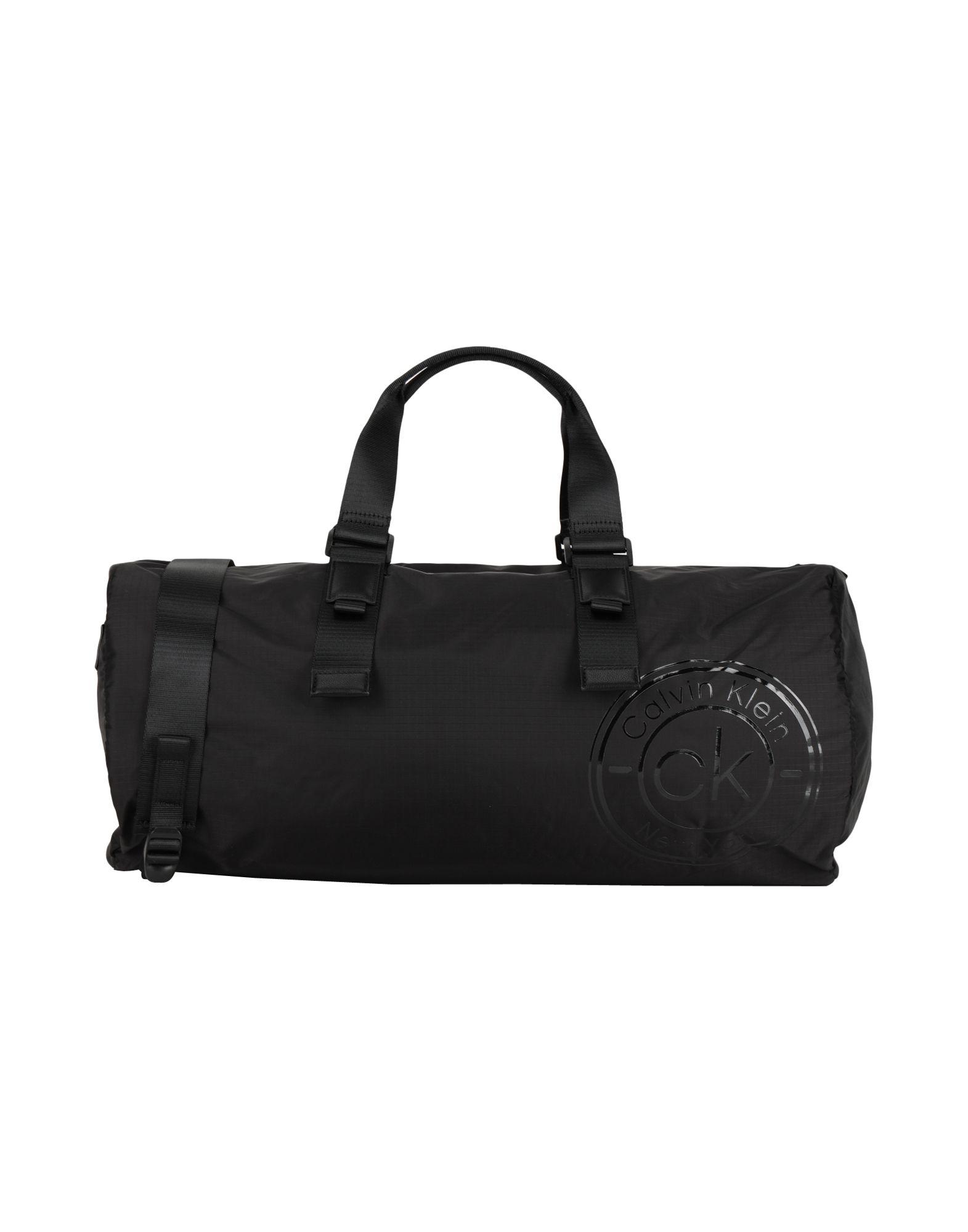 《セール開催中》CALVIN KLEIN メンズ 旅行バッグ ブラック ナイロン 90% / ポリウレタン 10% CK AVAILED DUFFLE