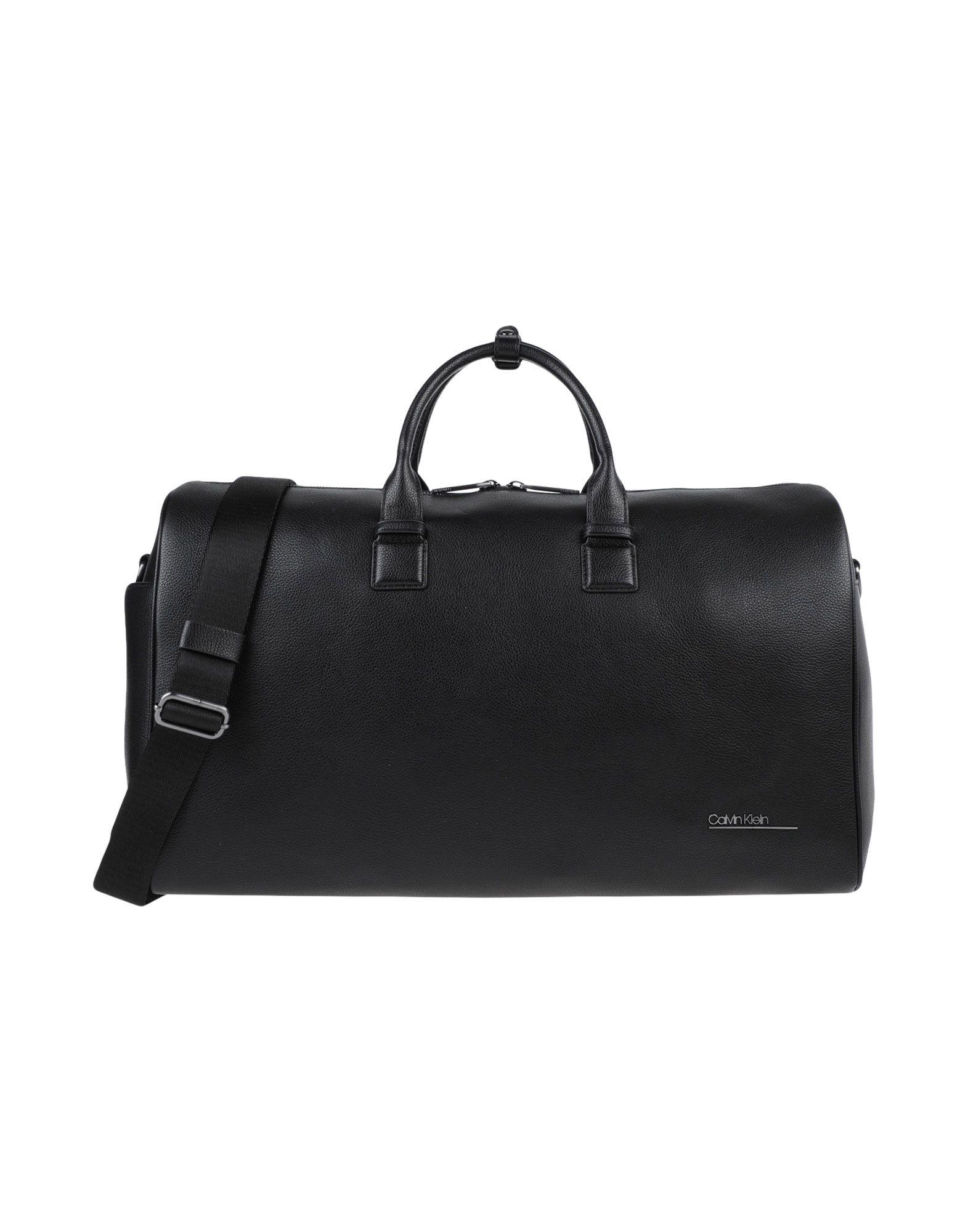 《セール開催中》CALVIN KLEIN メンズ 旅行バッグ ブラック ポリウレタン 100% CK BOMBE' WEEKENDER