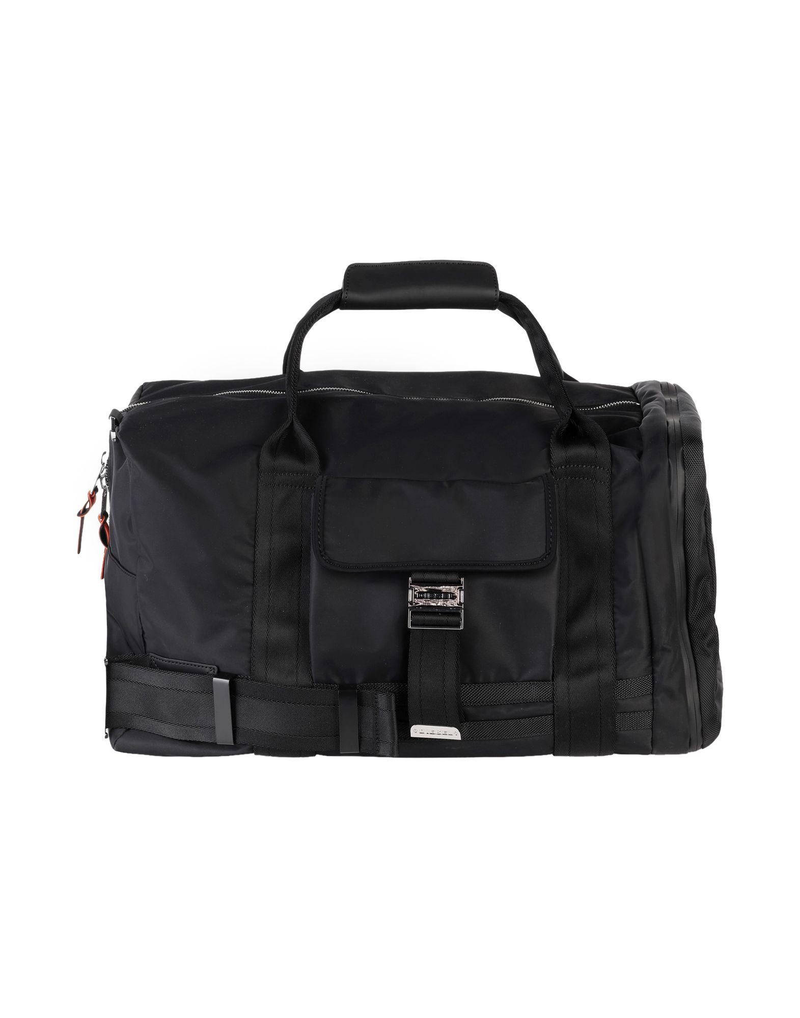 《セール開催中》DIESEL メンズ 旅行バッグ ブラック 紡績繊維