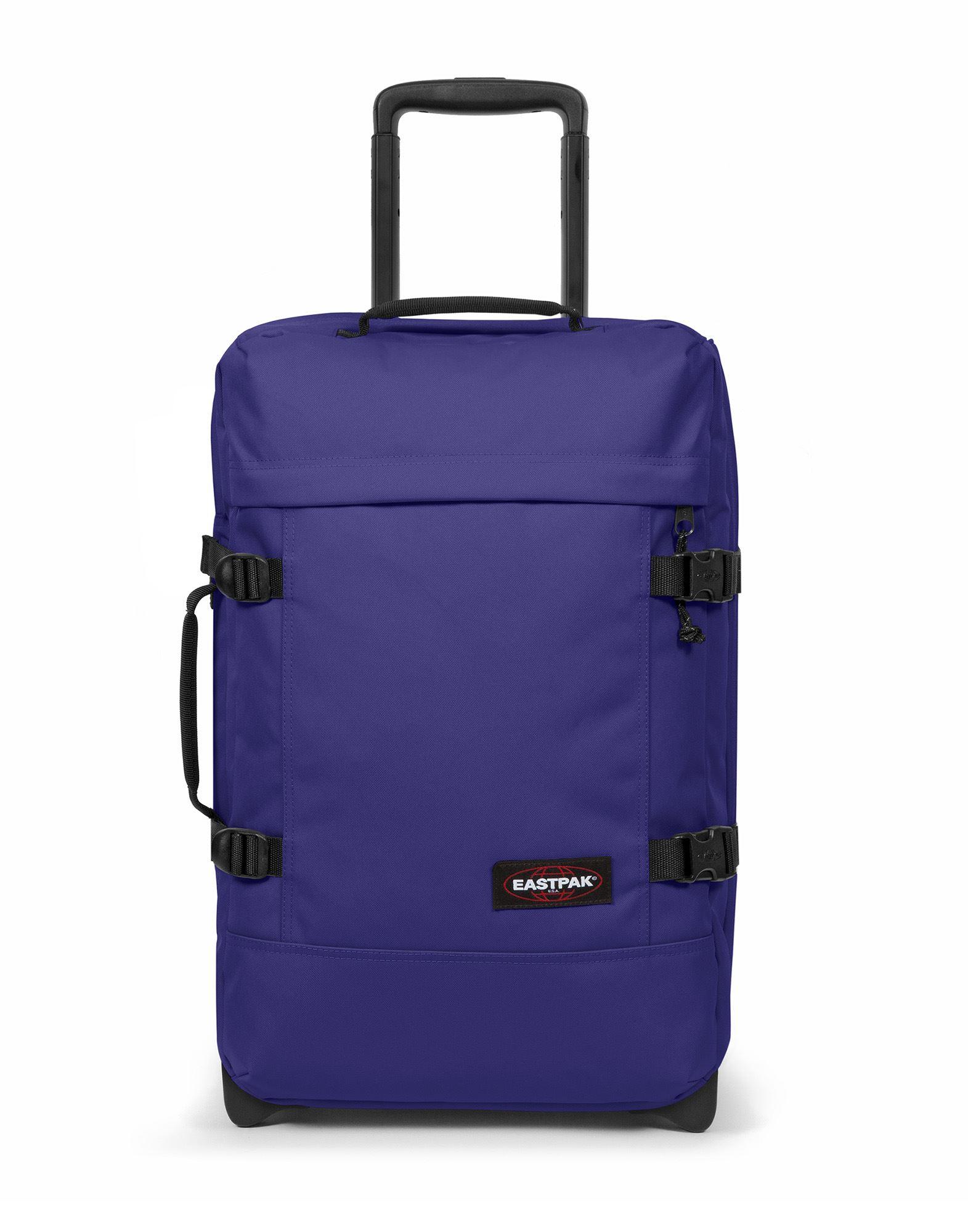 《セール開催中》EASTPAK Unisex キャスター付きバッグ パープル ポリエステル 100% TRANVERZ S