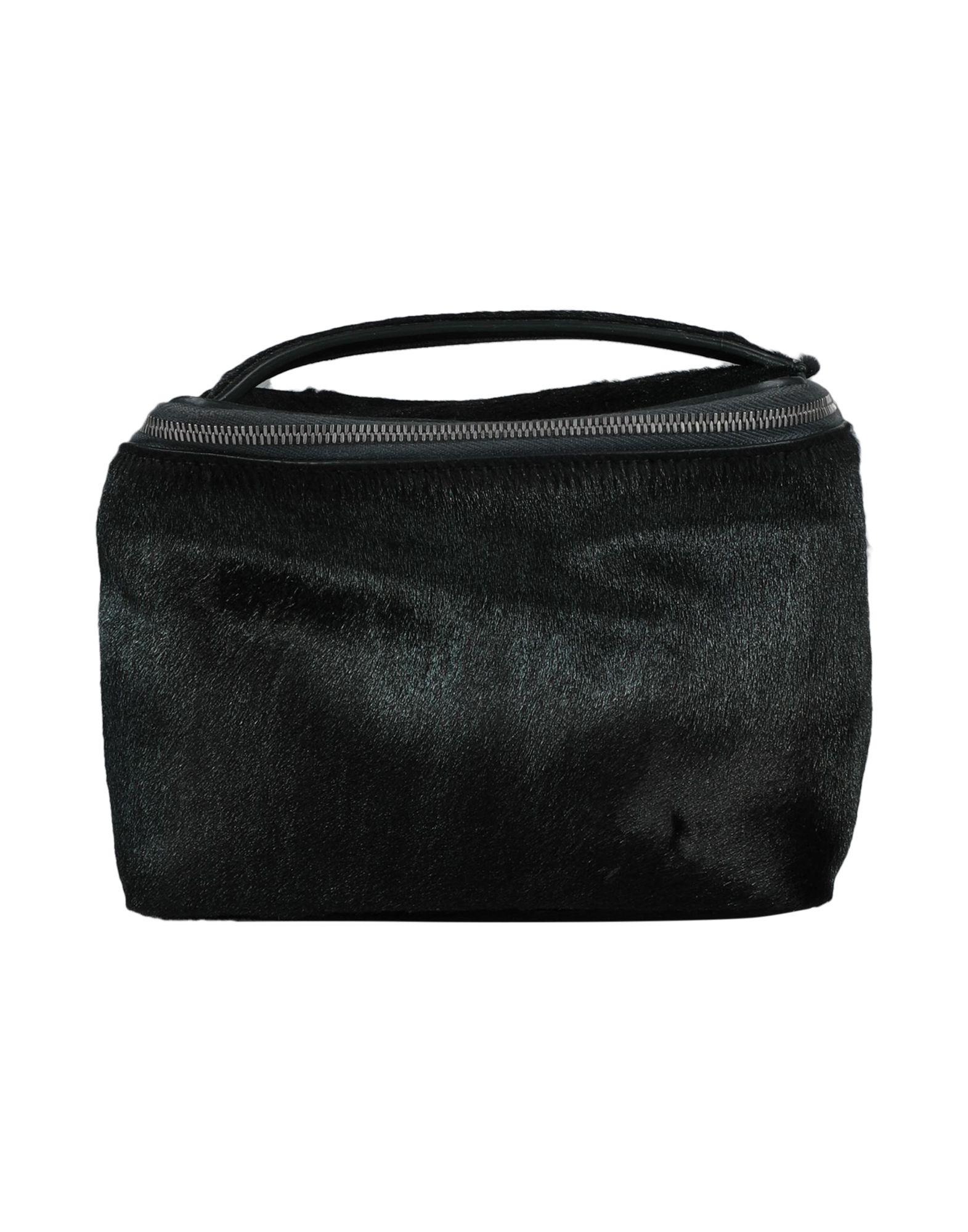 RICK OWENS Beauty cases. leather, no appliqués, solid color, zipper closure, fully lined, contains non-textile parts of animal origin. Soft Leather