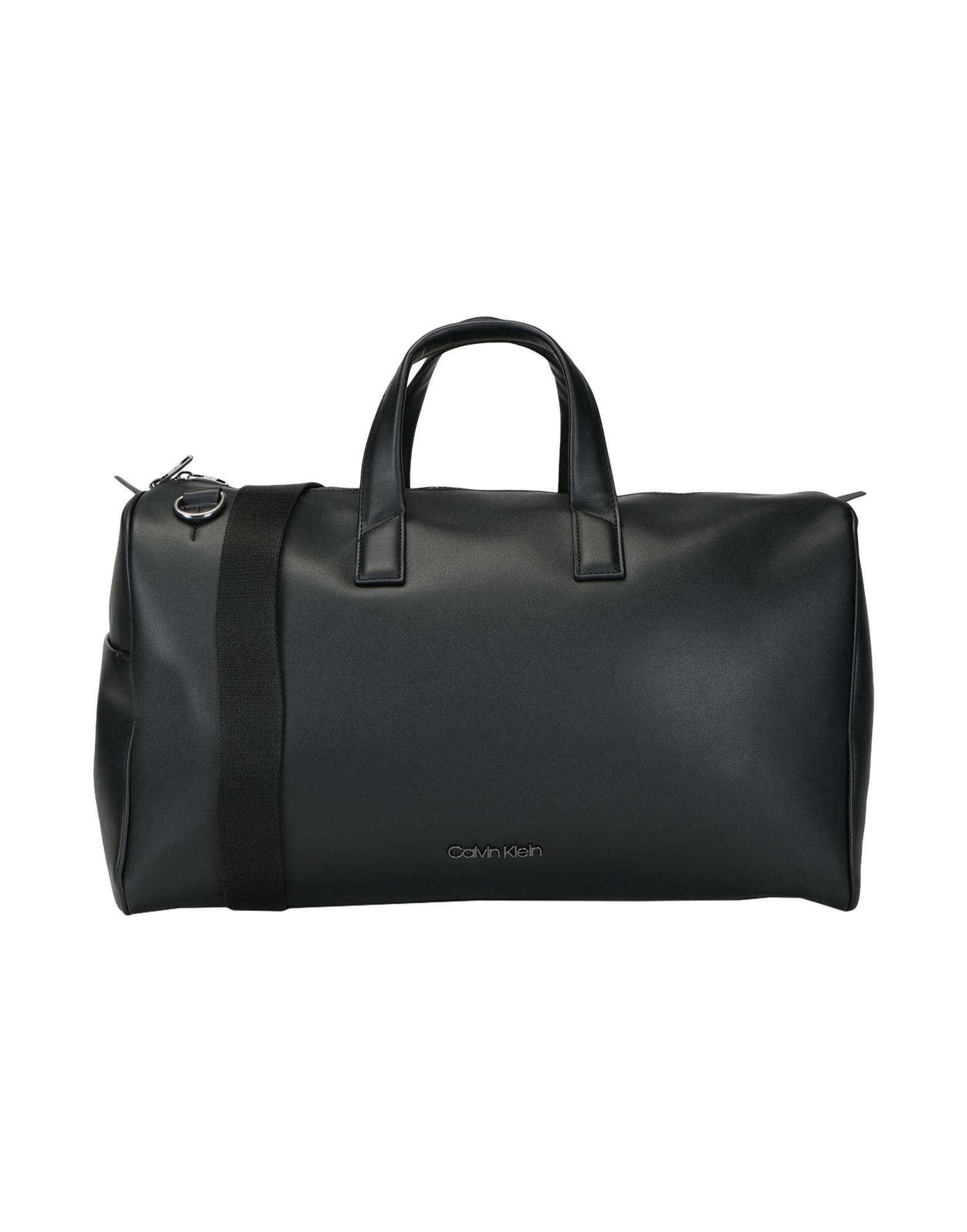 《セール開催中》CALVIN KLEIN メンズ 旅行バッグ ブラック ポリウレタン 100% CK CENTRAL WEEKENDER
