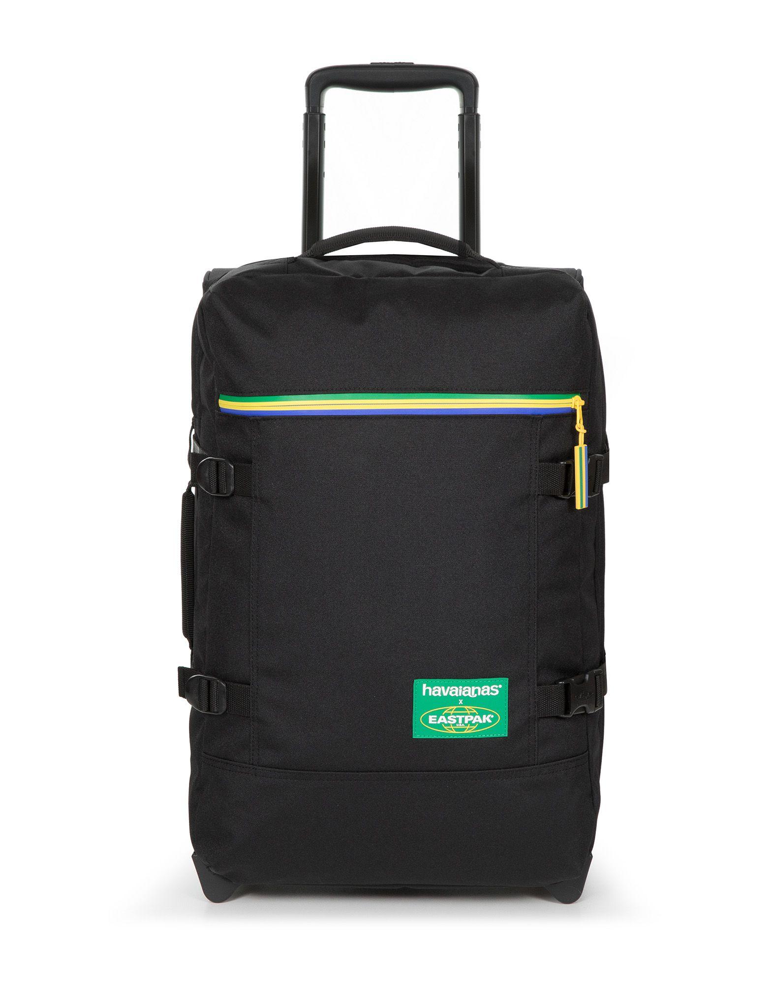 《セール開催中》EASTPAK x HAVAIANAS Unisex キャスター付きバッグ ブラック ポリエステル 100% TRANVERZ S