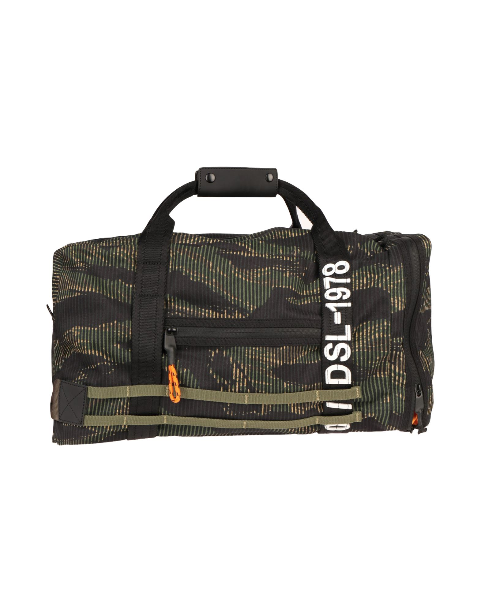 《セール開催中》DIESEL メンズ 旅行バッグ ミリタリーグリーン コットン 65% / ポリウレタン 35% / 亜鉛