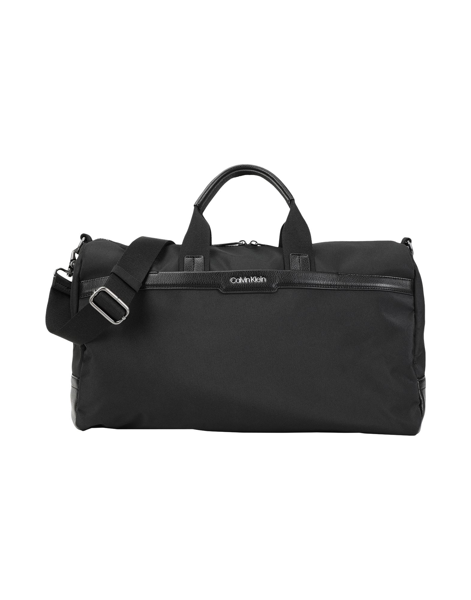 《セール開催中》CALVIN KLEIN メンズ 旅行バッグ ブラック リサイクルポリエステル 90% / ポリウレタン 10% GYM DUFFLE