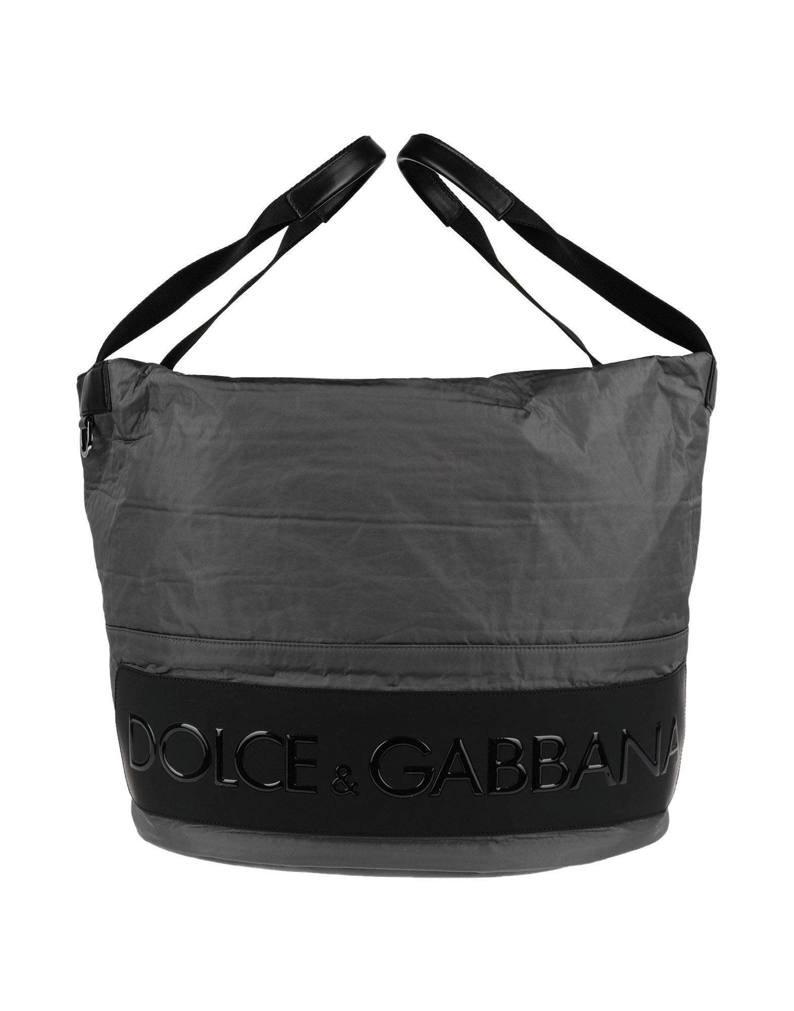 DOLCE & GABBANA ドルチェ & ガッバーナ メンズ 旅行バッグ 鉛色