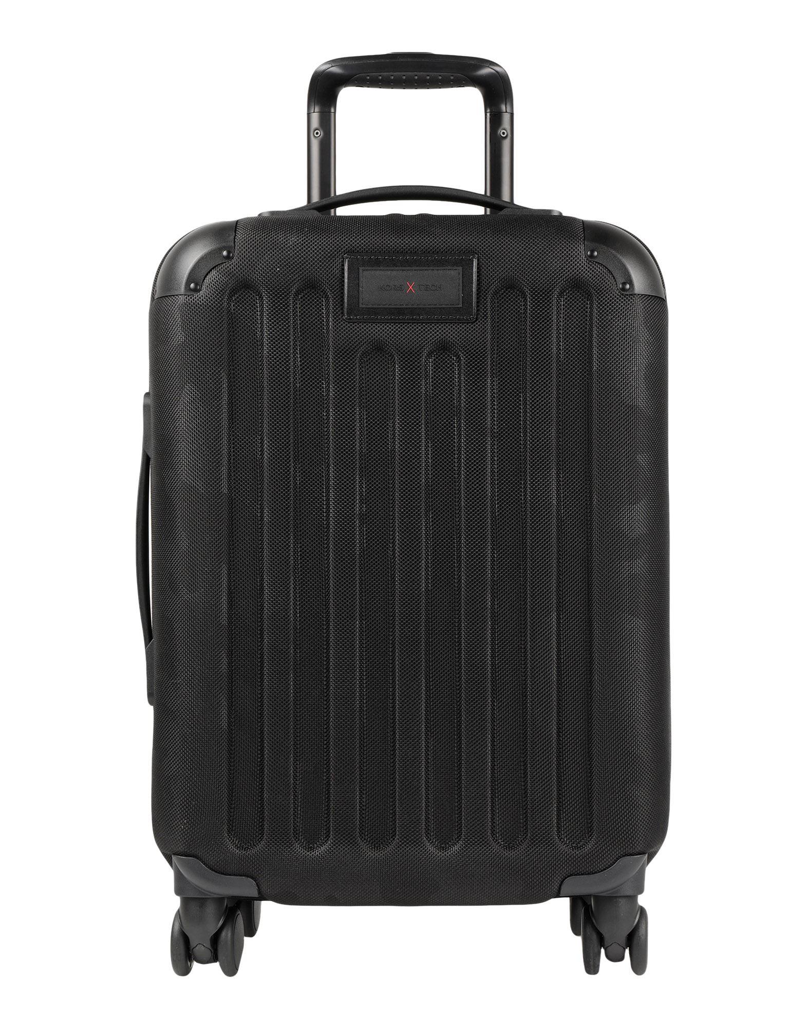 《セール開催中》MICHAEL MICHAEL KORS メンズ キャスター付きバッグ ブラック ポリエステル 100% / プラスティック / 革