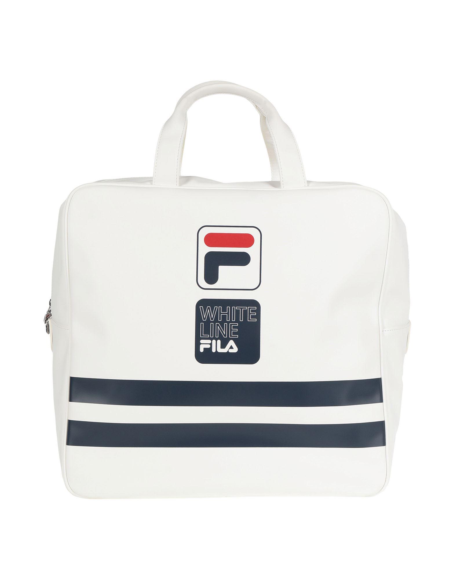 FILA メンズ 旅行バッグ ホワイト