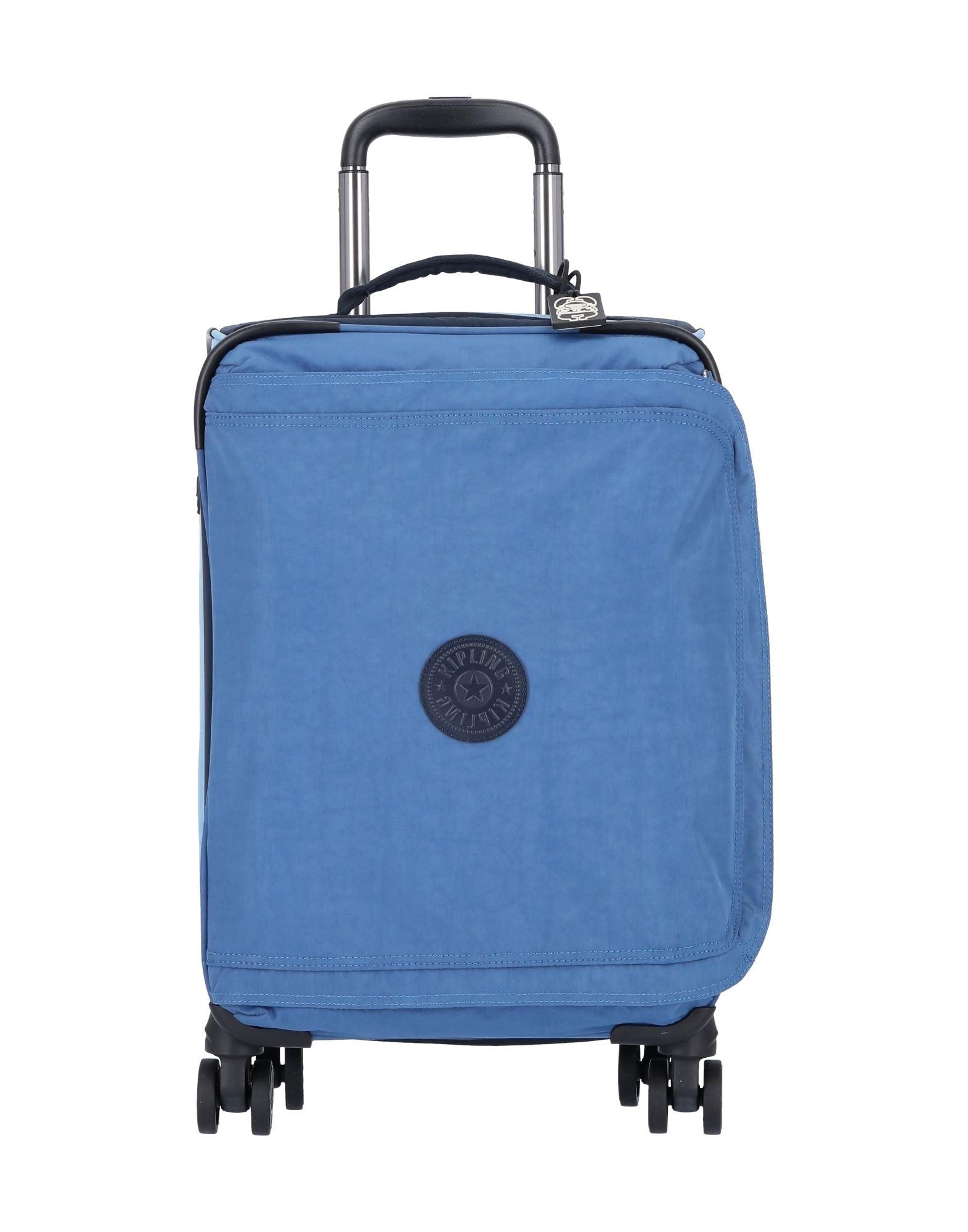 《セール開催中》KIPLING Unisex キャスター付きバッグ スカイブルー ナイロン 100%