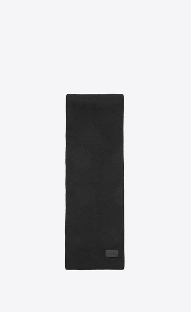 SAINT LAURENT Rectangular Scarf D Knit Scarf in Black Cashmere a_V4